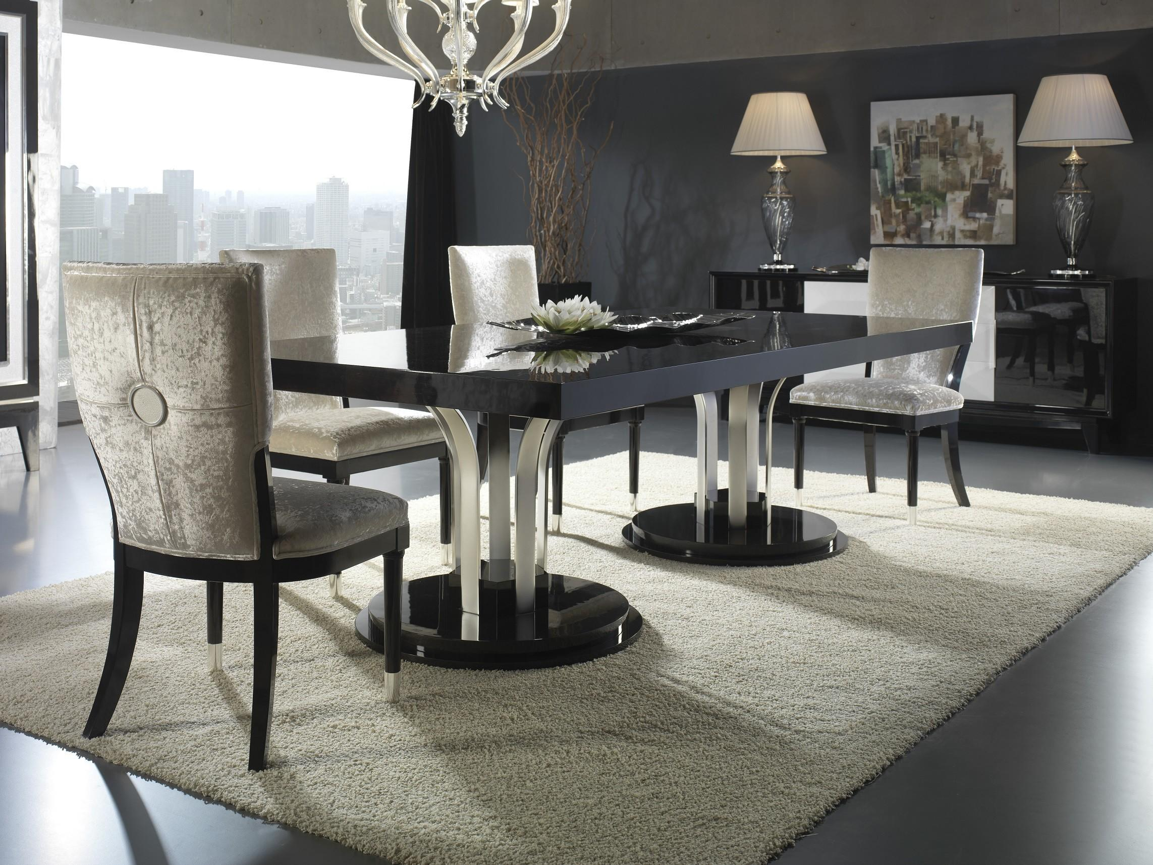 Luxury Contemporary Dining Room Set Chairs Light