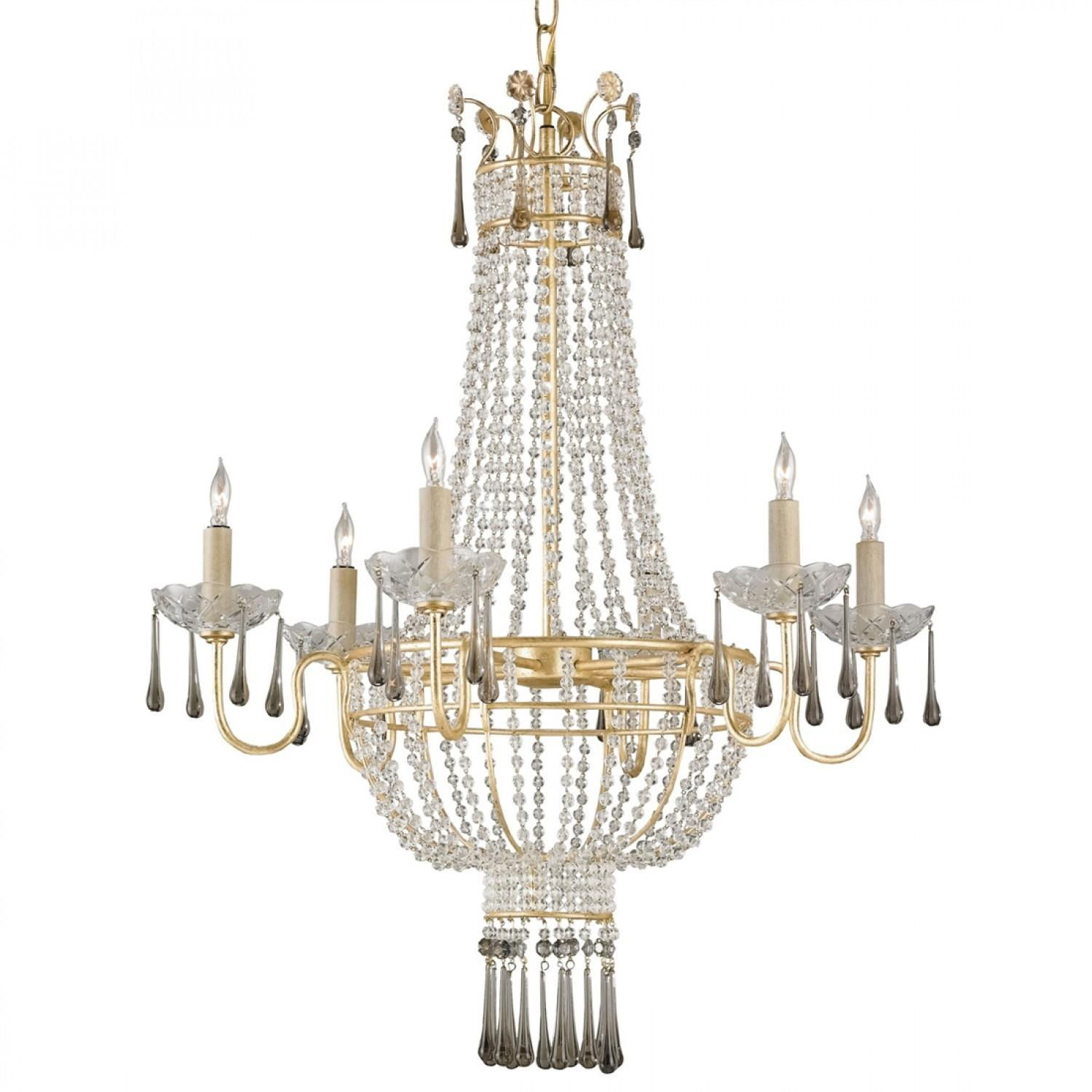 Luxury Crystal Cool Chandeliers Brass Frames Hanger