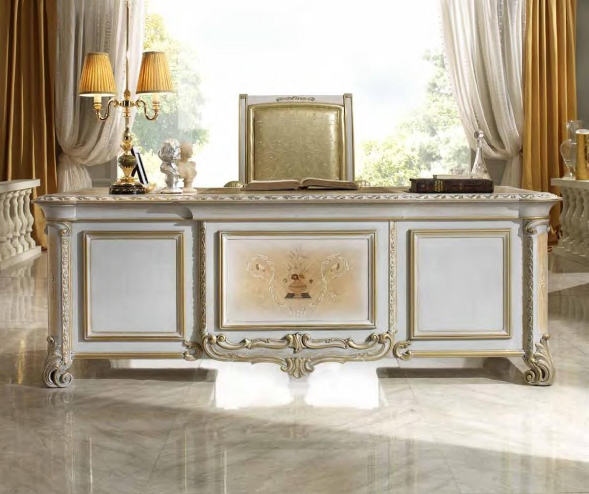 Luxury High End Office Furniture White Desk Table