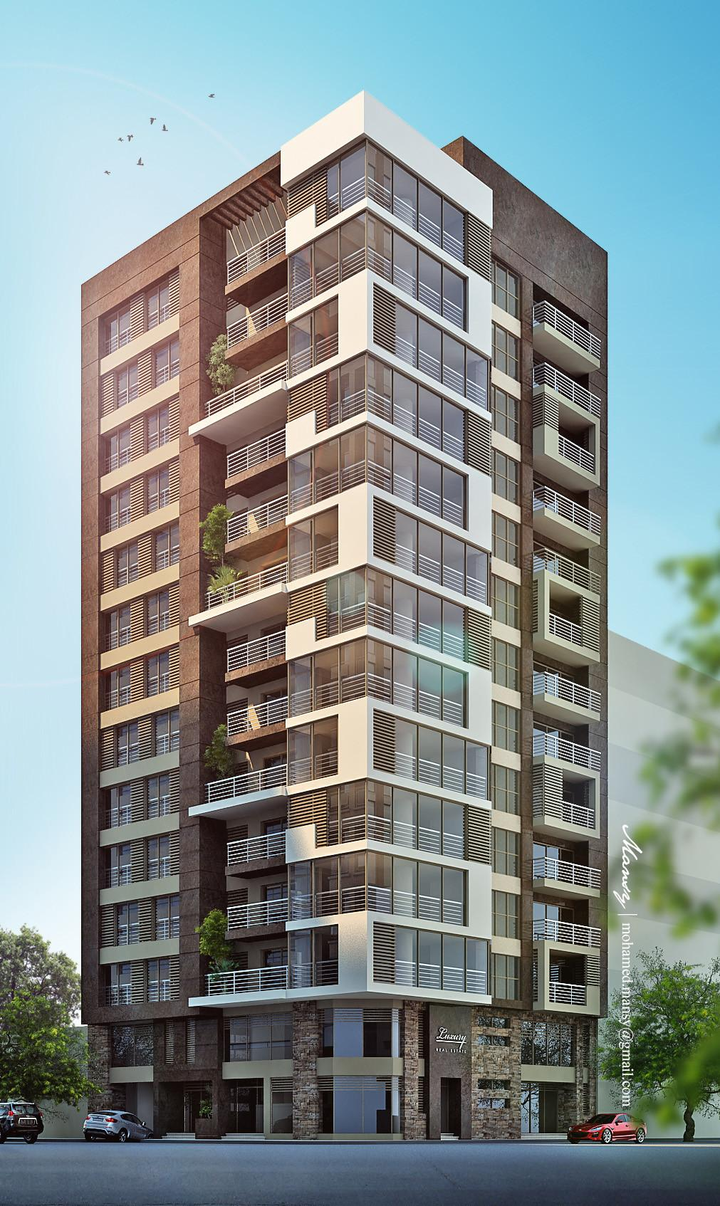 Luxury High Rise Residential Apartment Building Behance