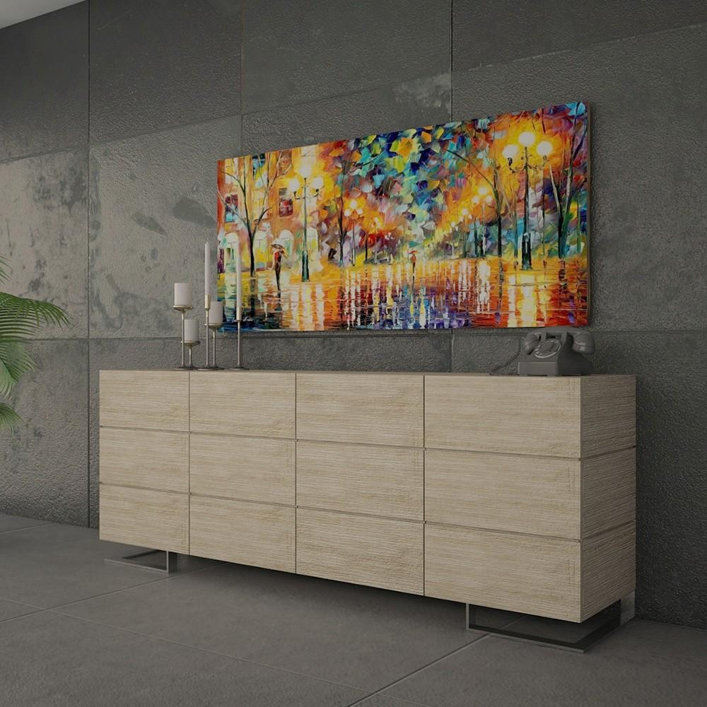 Luxury Large Modern Sideboard Cabinet Buffet Textured