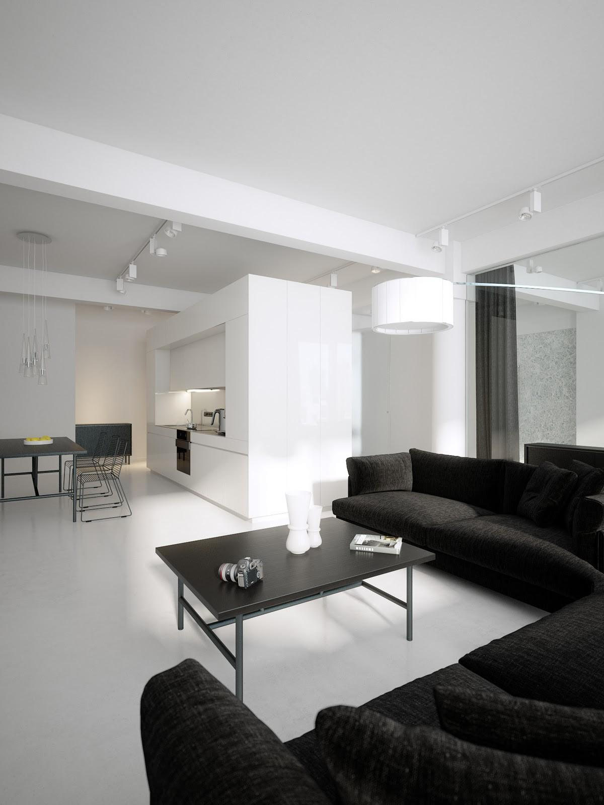 Luxury Minimalist Loft Designs Black White Best