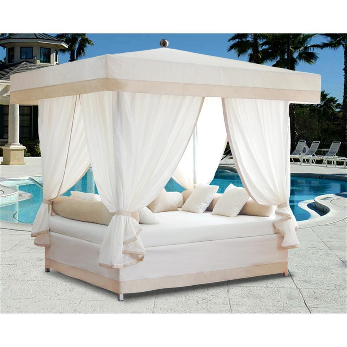 Luxury Outdoor Lounge Bed Canopy Patio