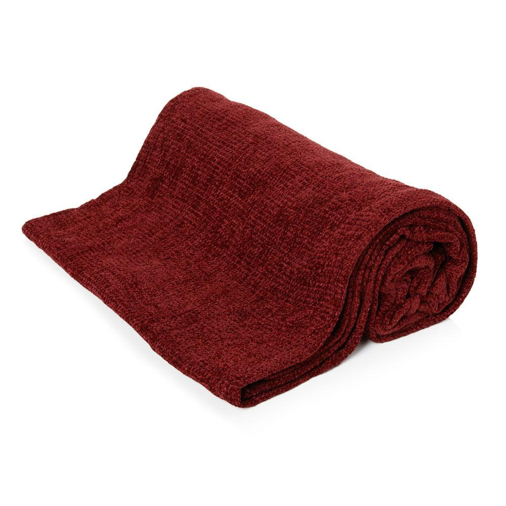 Luxury Plain Super Soft Comfy Chenille Blanket Woven Throw