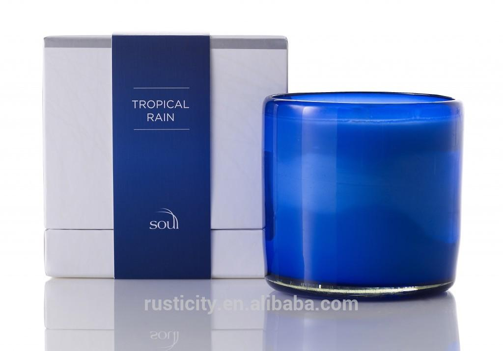 Luxury Scented Soy Wax Candle Glass Jar High End