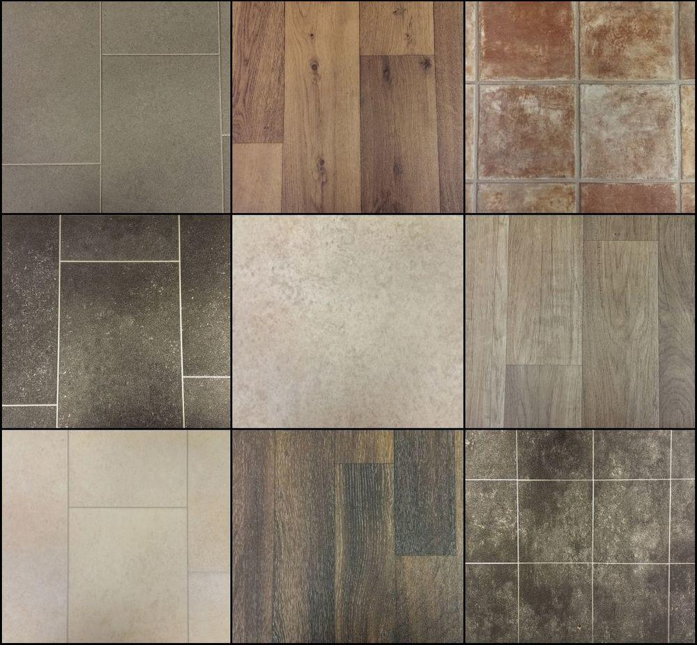 Luxury Vinyl Flooring Lino Bathroom Kitchen Easy Clean Non