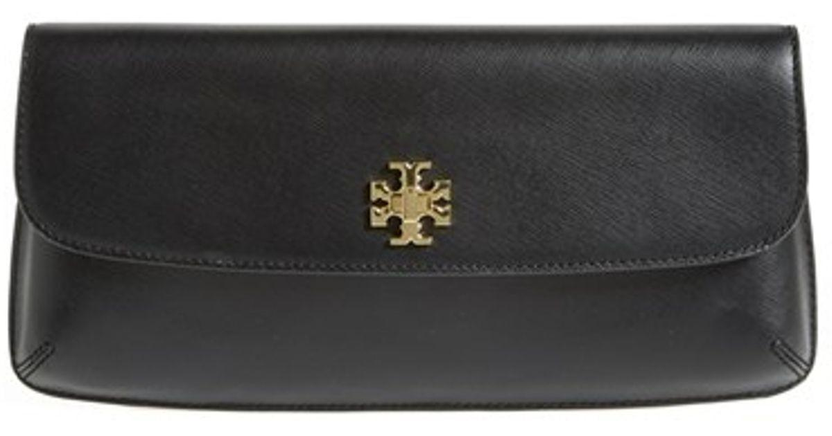 Lyst Tory Burch Slim Diana Saffiano Leather Flap