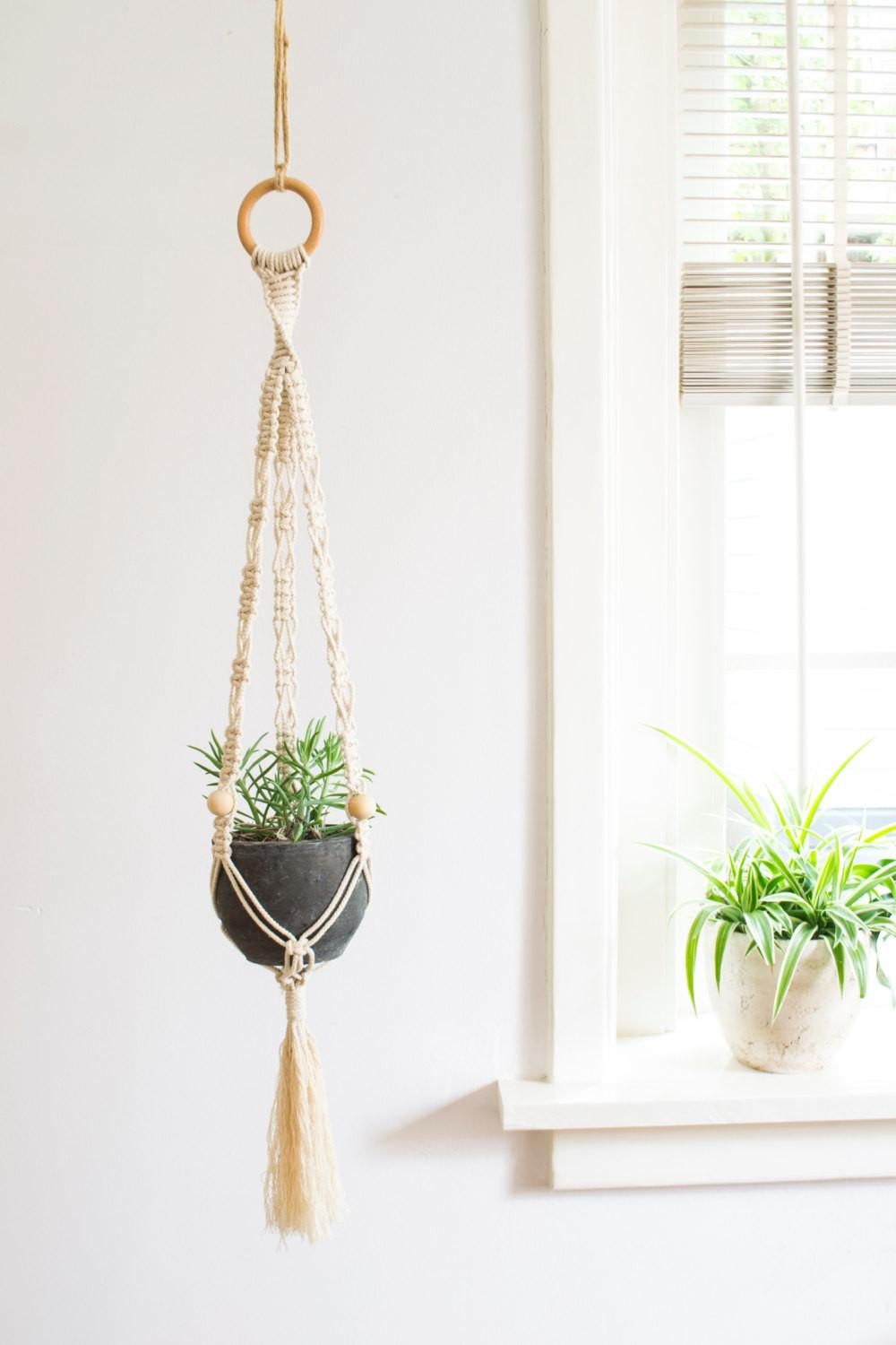 Macrame Plant Hanger Inch Braided Cotton Cord