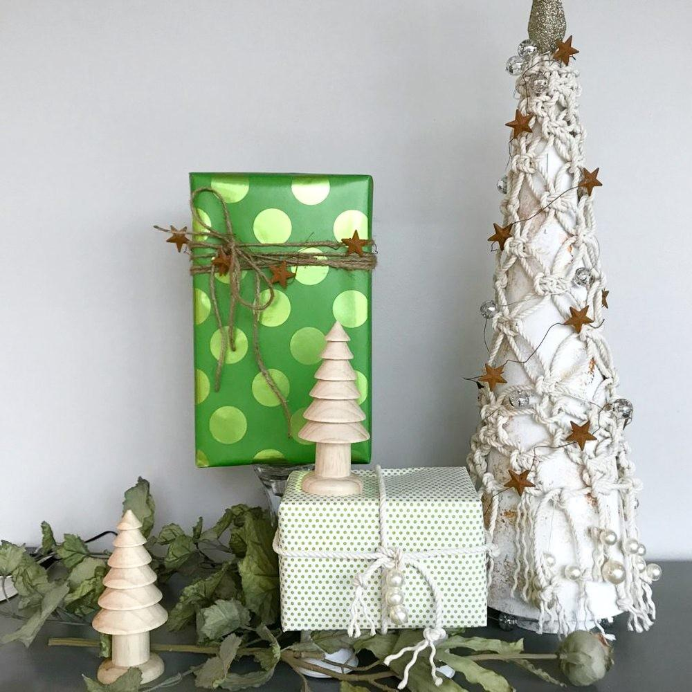 Macrame Tabletop Christmas Tree French Twist