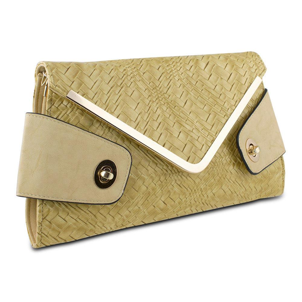 Mad Style Owl Envelope Clutch Beige Purse Fashion