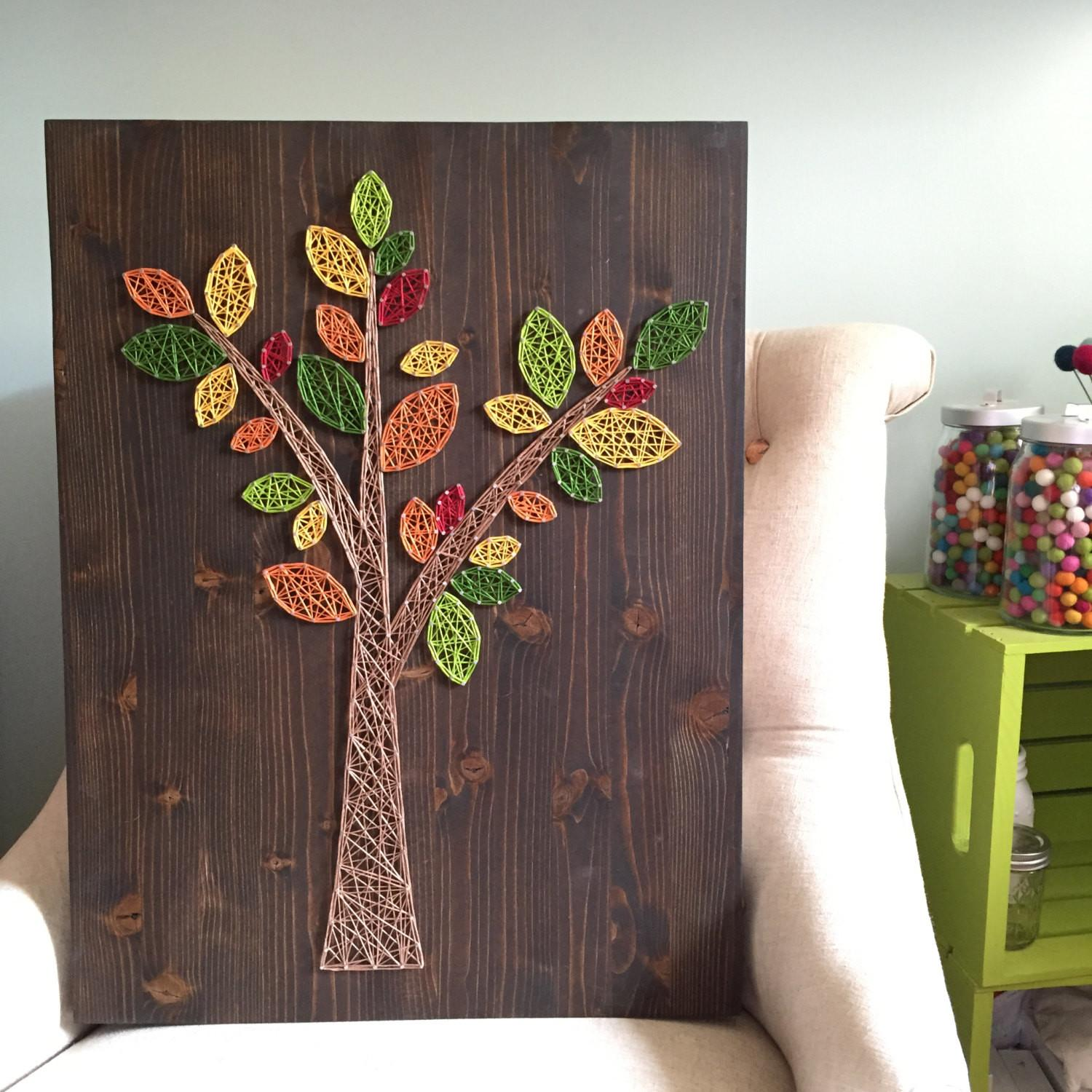 Made Order String Art Abstract Tree Sign