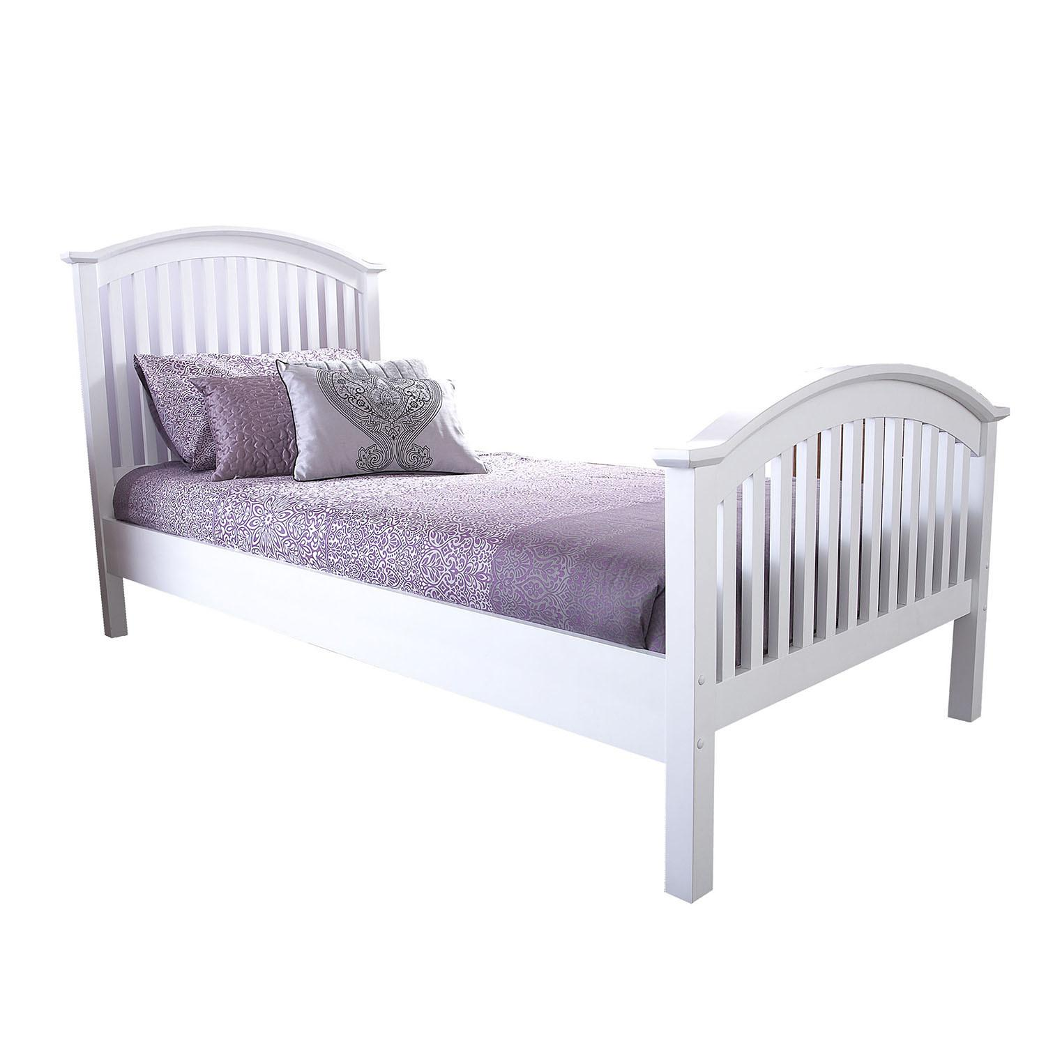 Madrid White High End Wooden Bed Next Day Select
