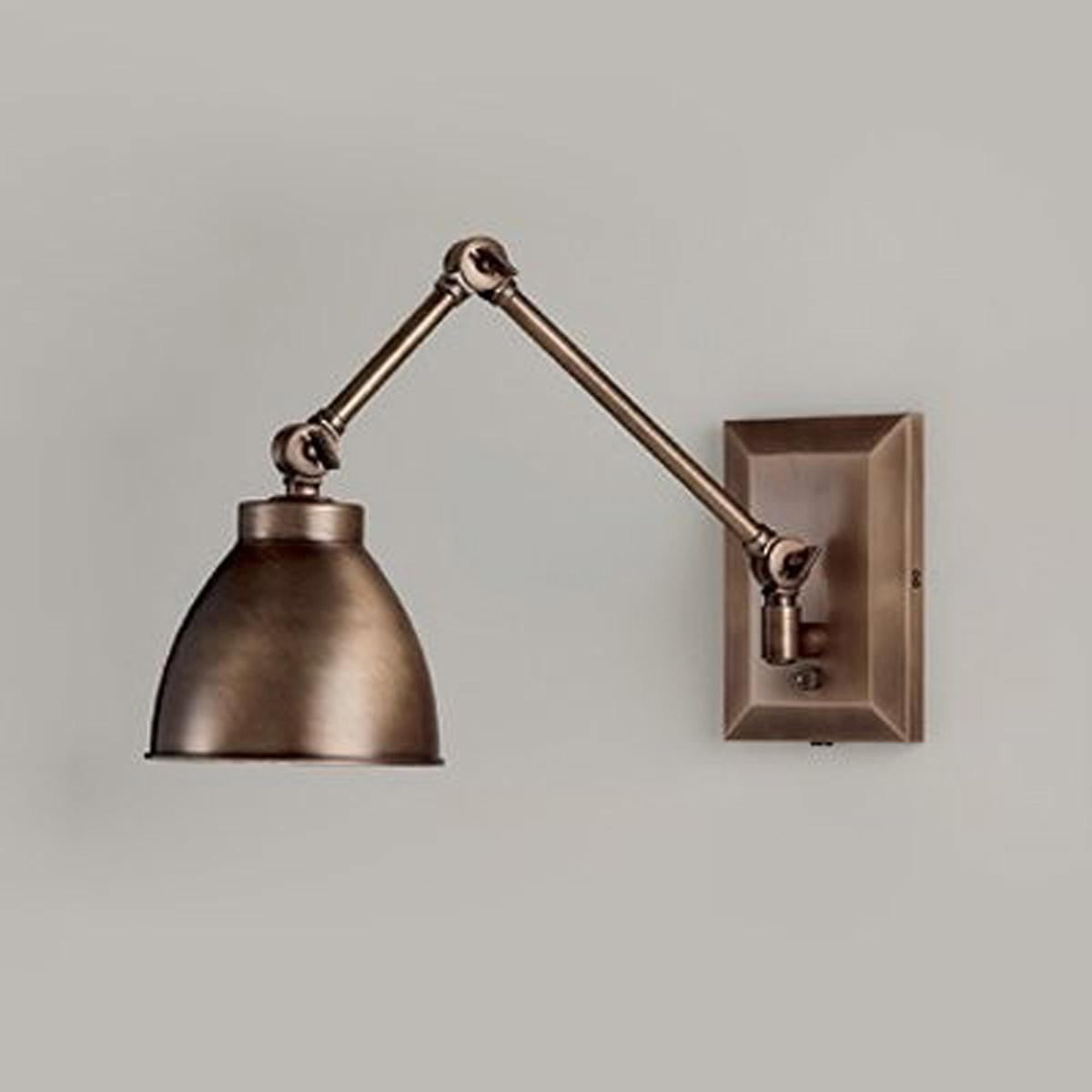 Maggie Bronze Swing Arm Wall Sconce Norwell Lighting