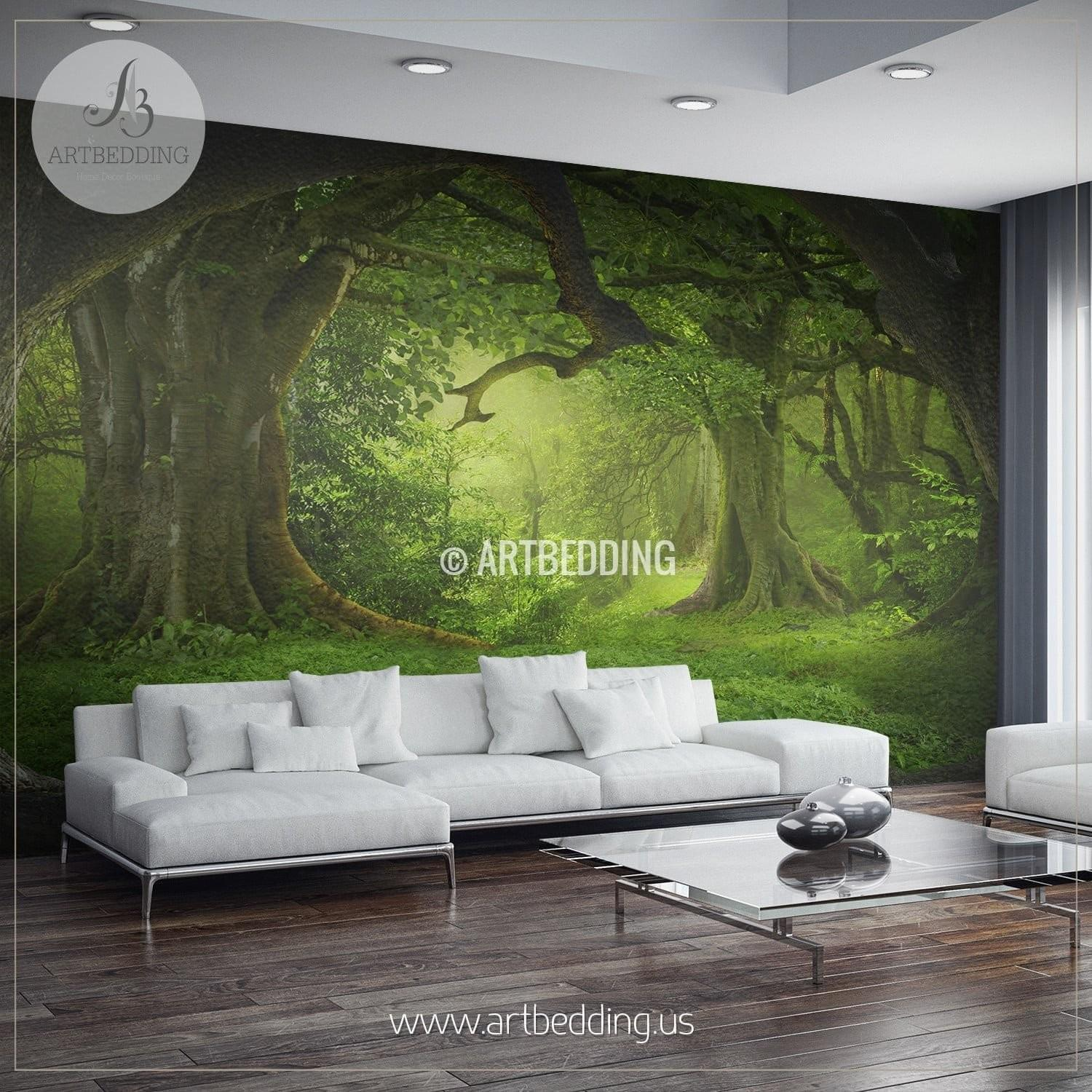 Magical Forest Self Adhesive Peel Stick Nature Wall