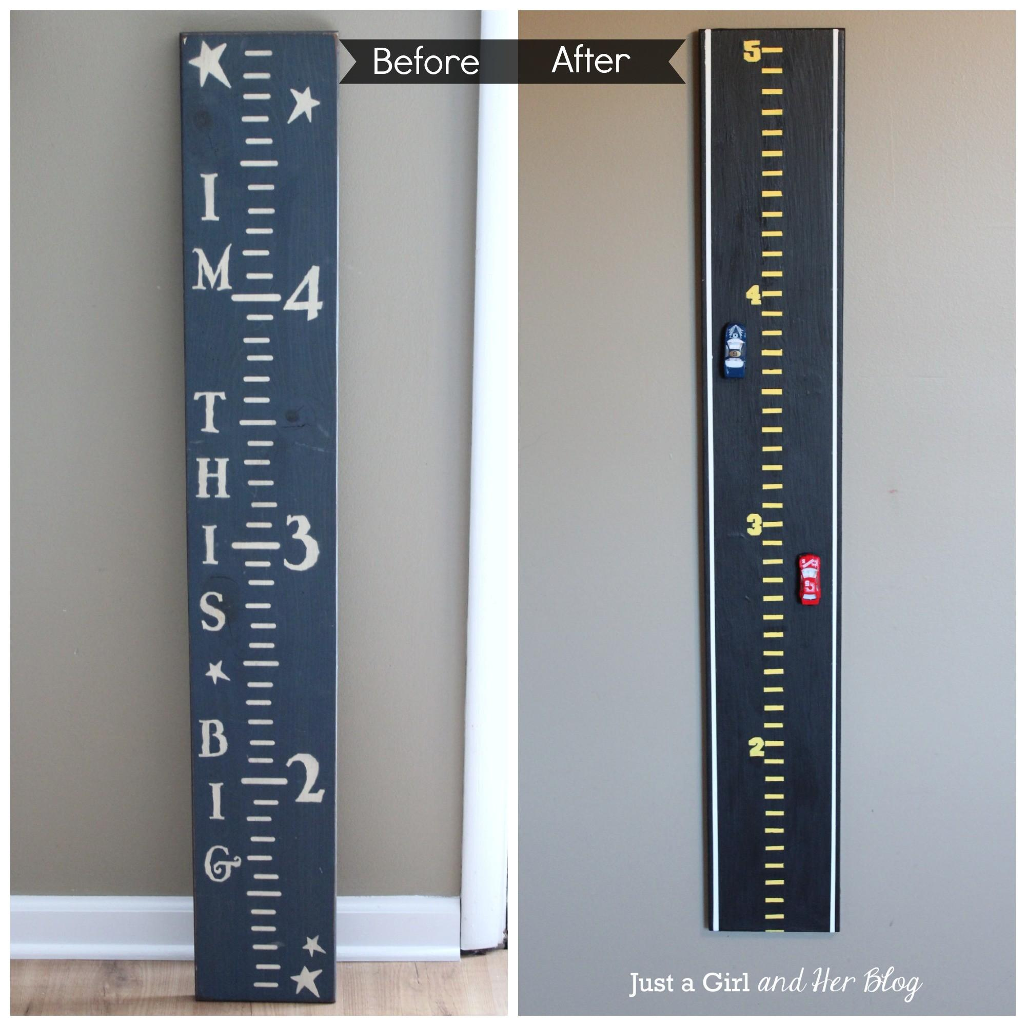 Magnetic Race Car Growth Chart Just Girl Her Blog