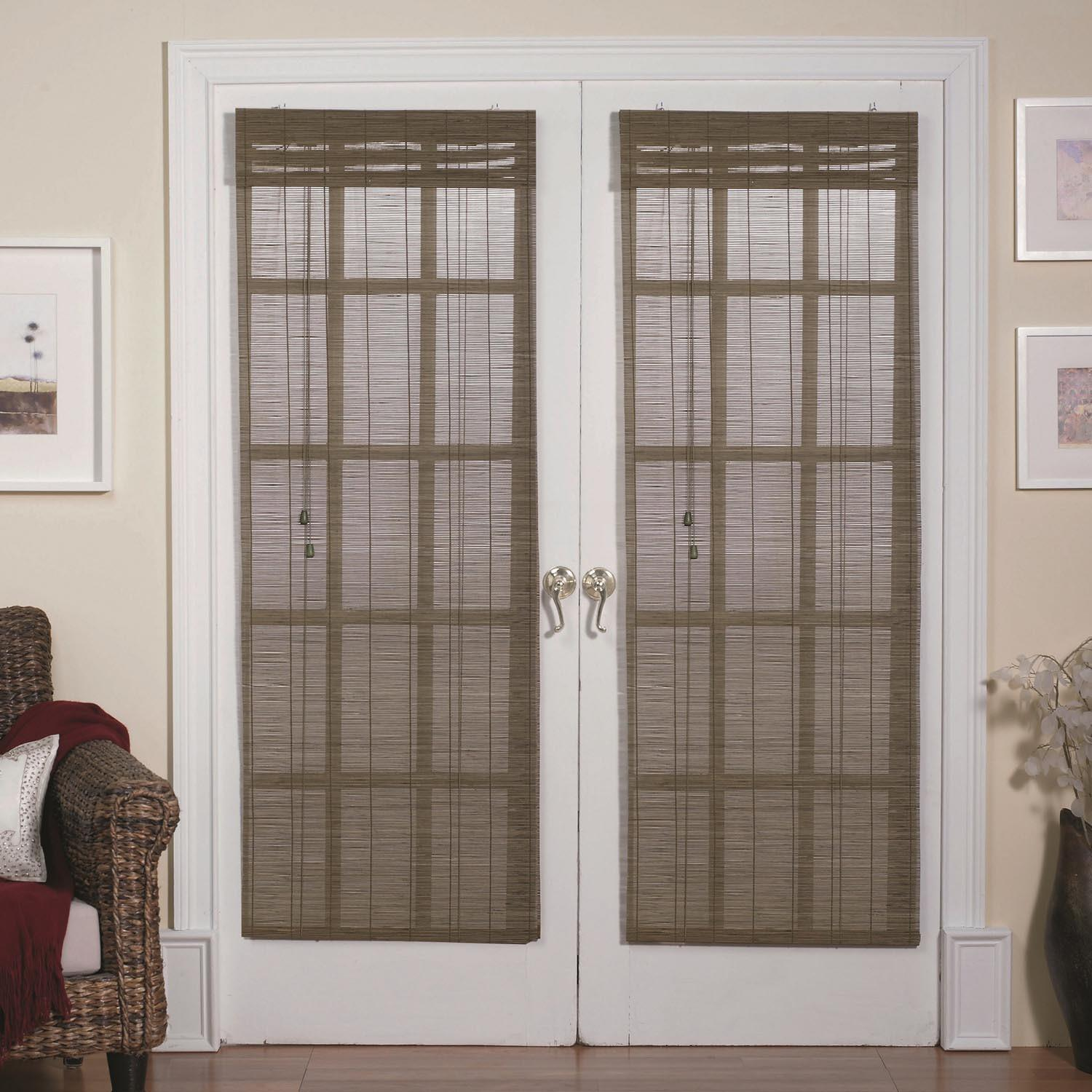 Magnetic Roman Shades French Doors Window Treatments