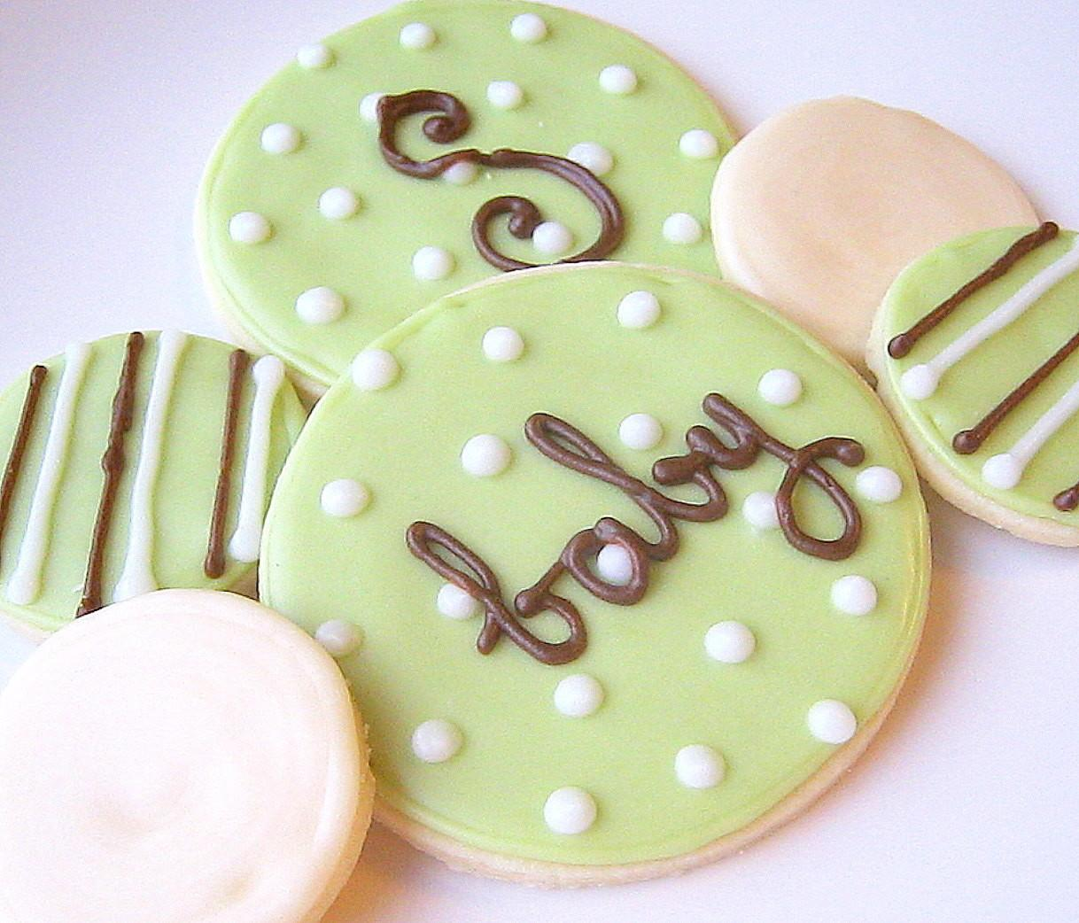 Magnificent Homemade Baby Shower Cookies Favors
