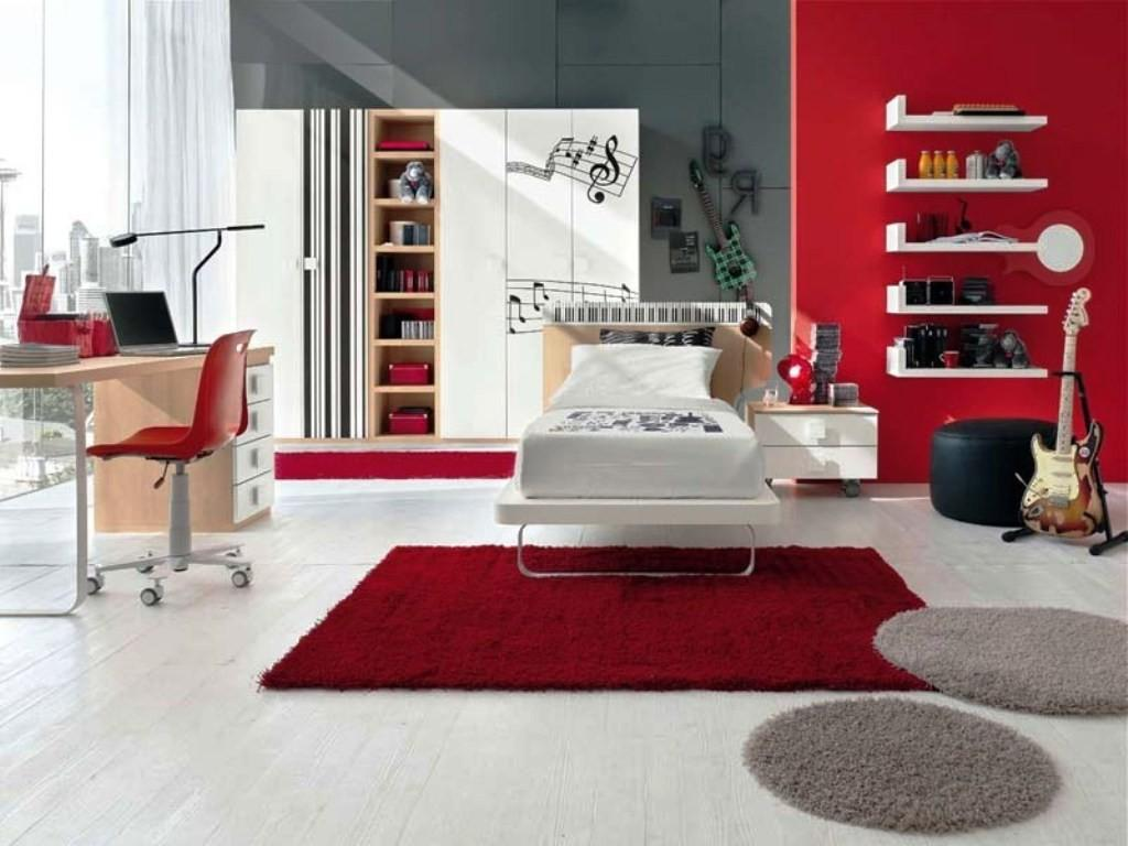 Magnificent Red Grey Bedroom Home Decor Ideas