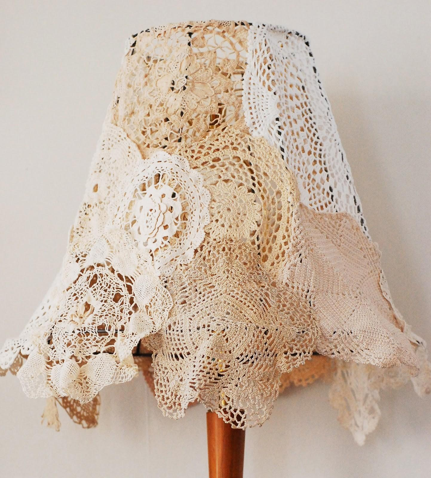 Maize Hutton Vintage Doily Lampshade Diy