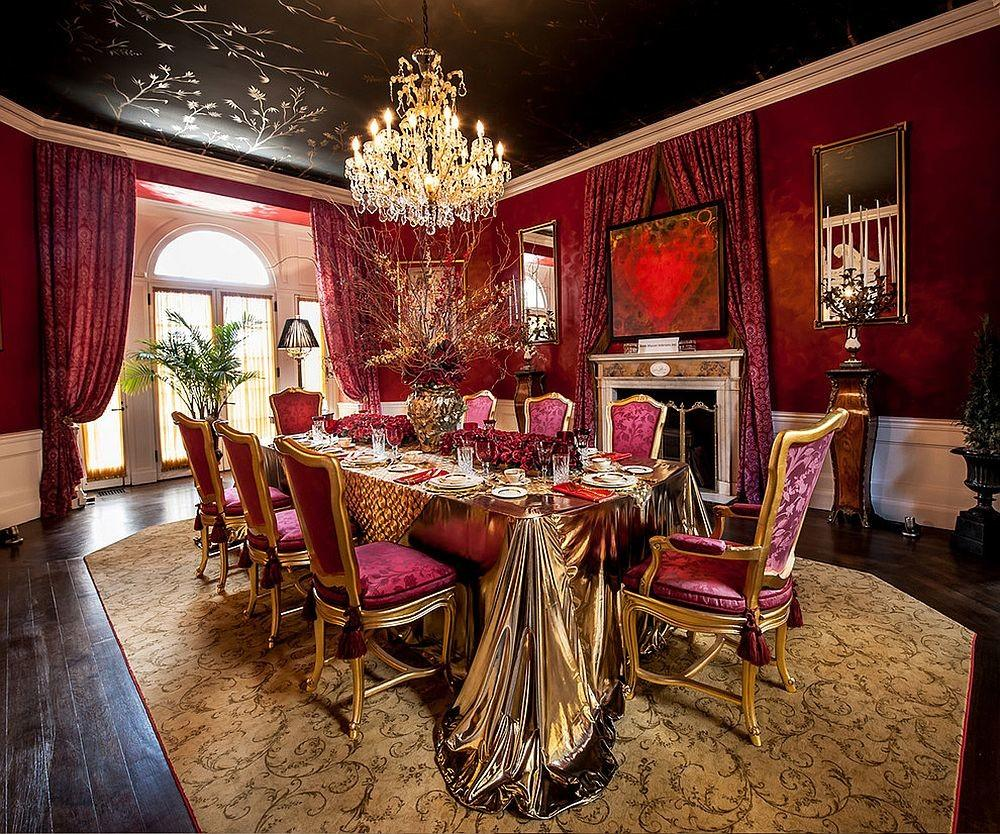 Majestic Victorian Dining Rooms Radiate Color