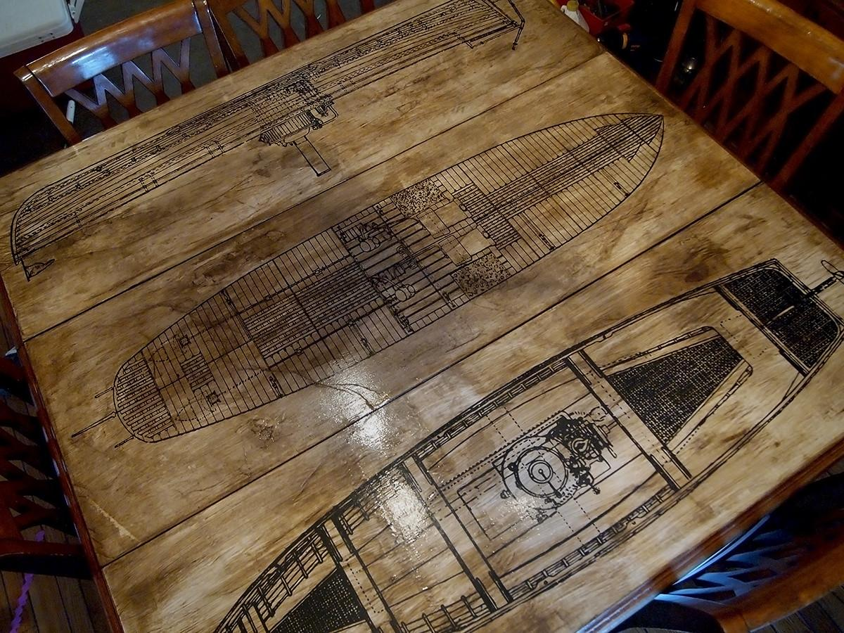 Make Aged Paper Decoupage Tabletop