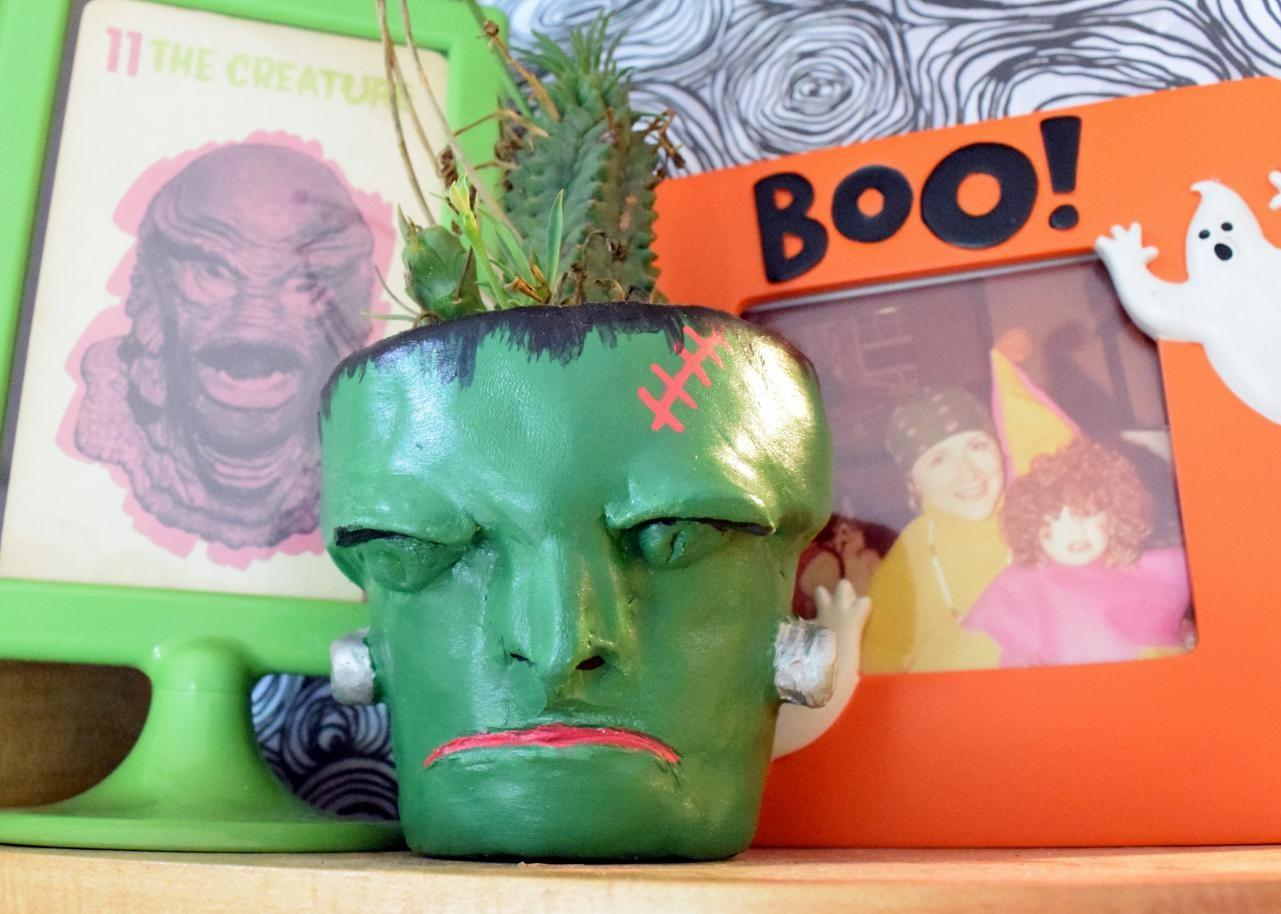 Make Air Dry Clay Planters Halloween Tos