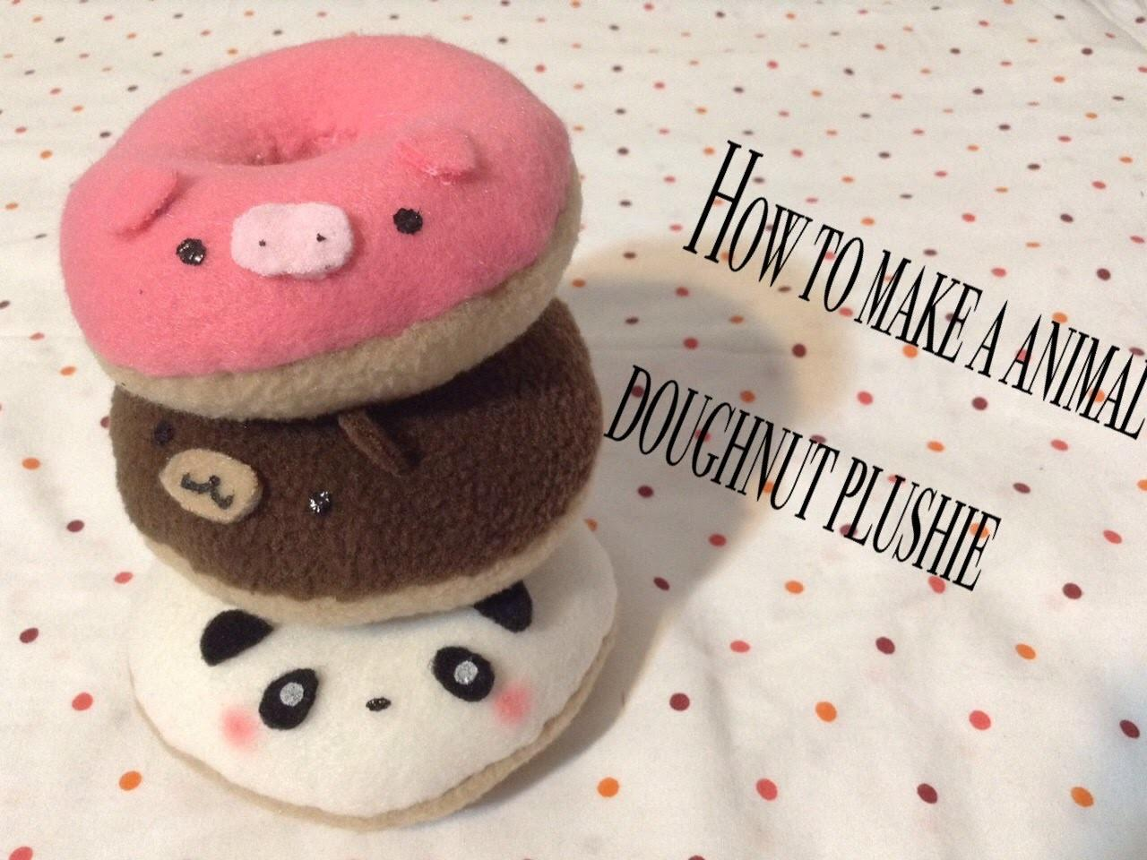 Make Animal Doughnut Plushie