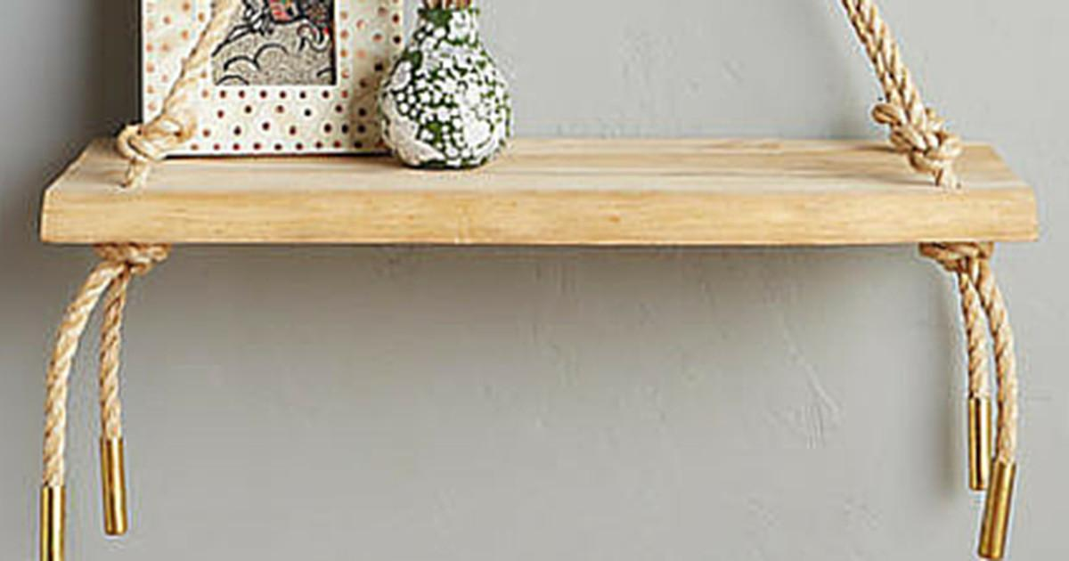 Make Anthropologie Inspired Swing Shelf Curbly