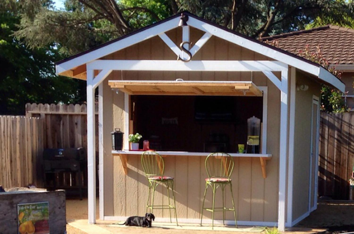 Make Bar Shed Backyard Garden