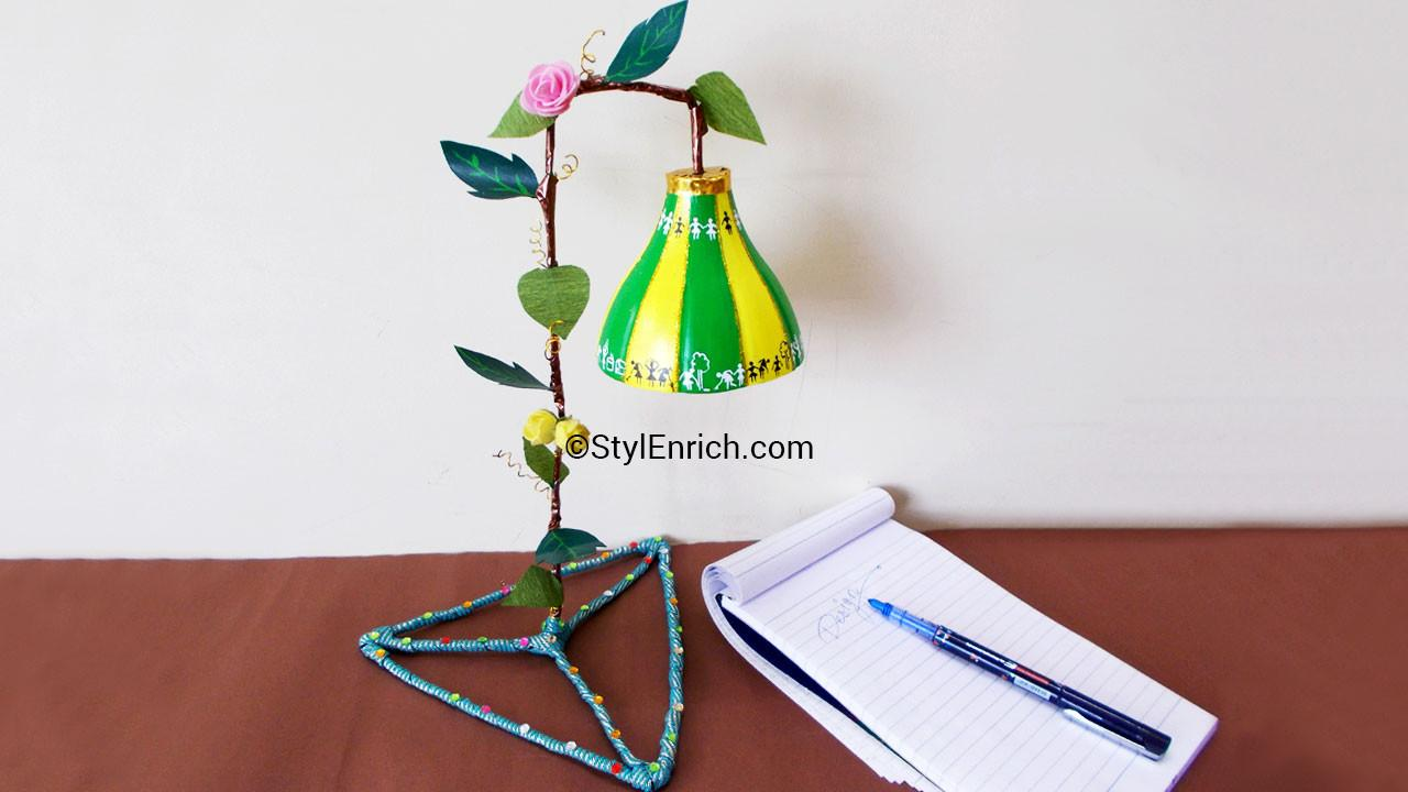 Make Beautiful Diy Table Lampshade Using Plastic
