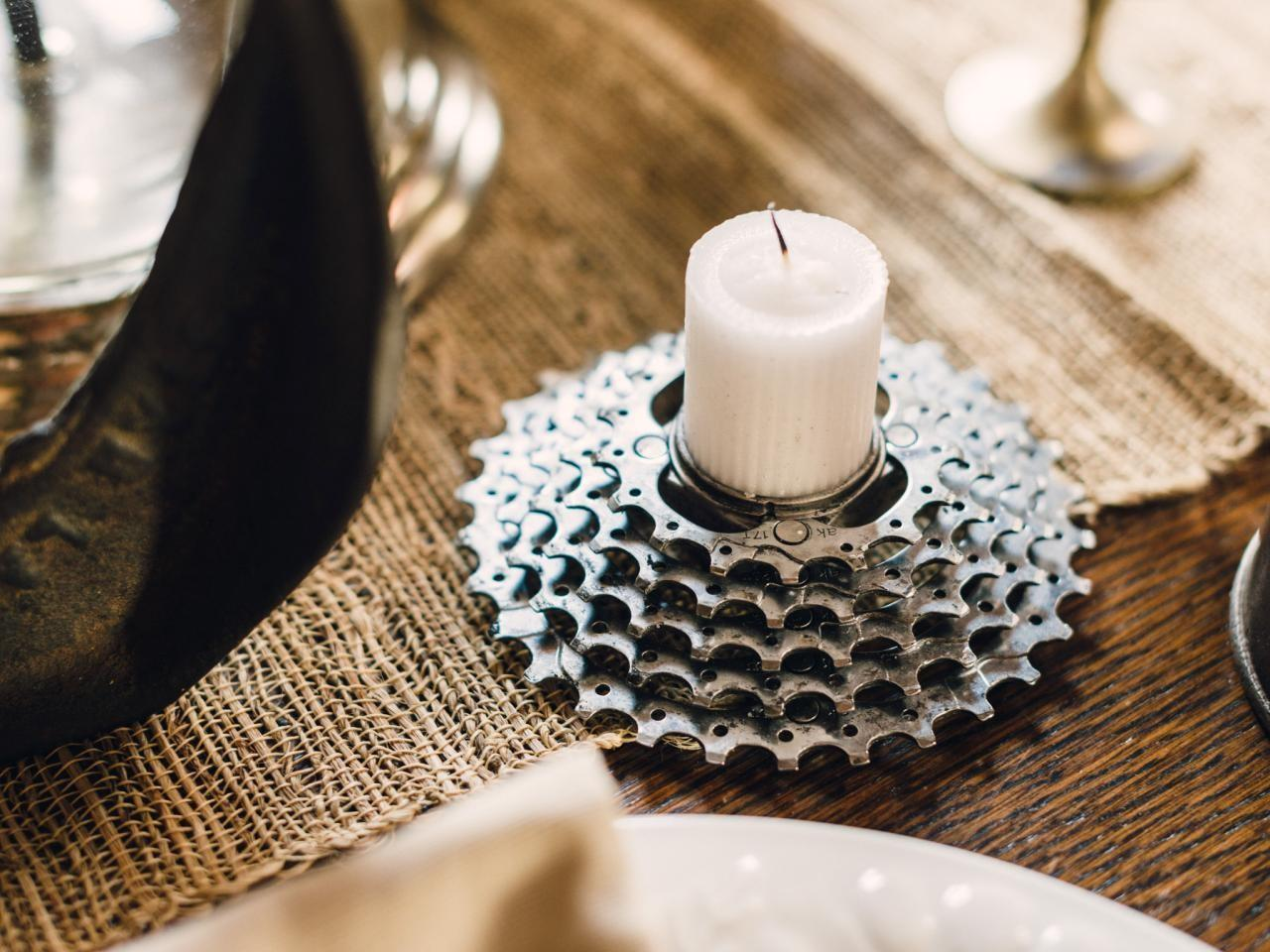 Make Bicycle Gear Votive Holders Tos Diy
