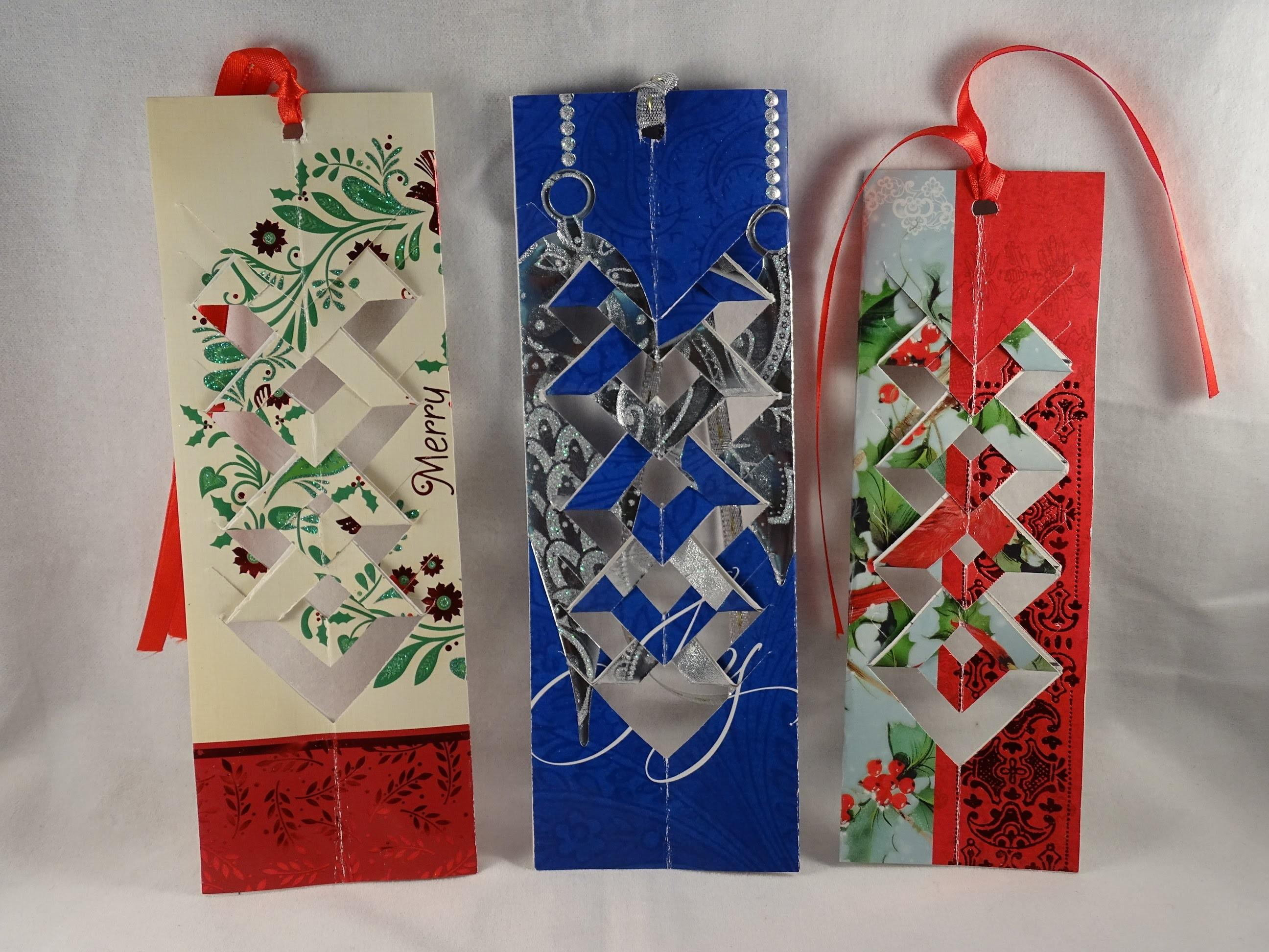 Make Bookmark Out Recycled Christmas Card