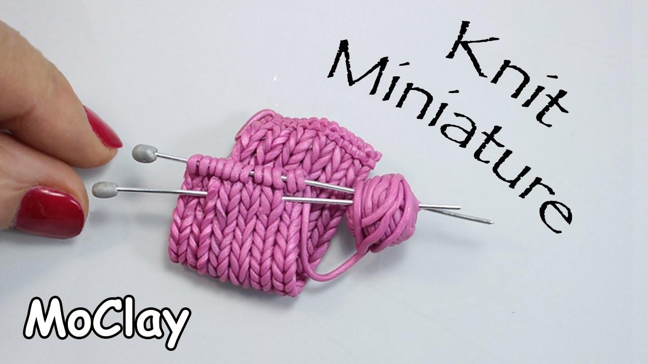 Make Brooch Faux Knit Miniature Diy