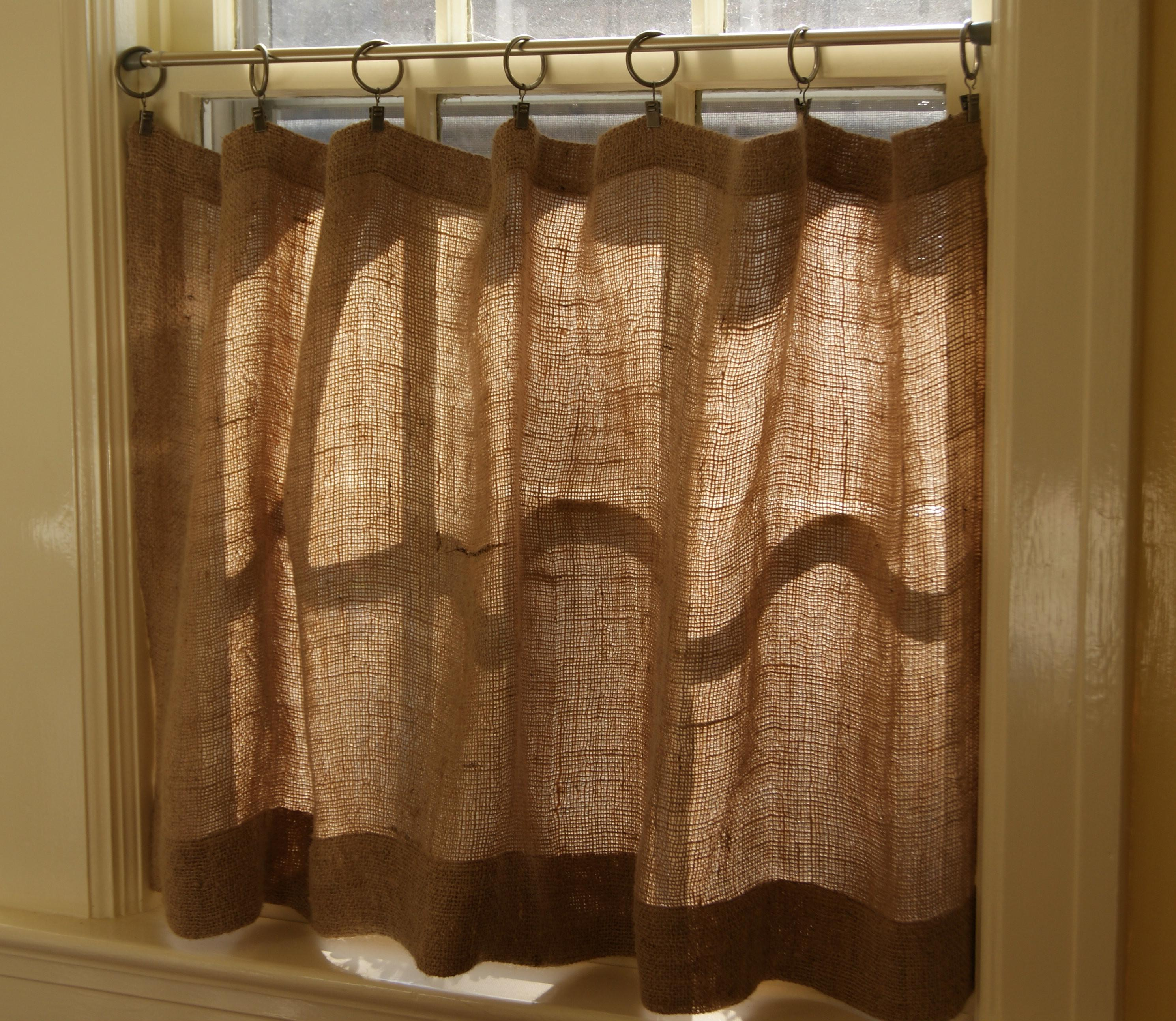 Make Burlap Cafe Curtains Guest Post