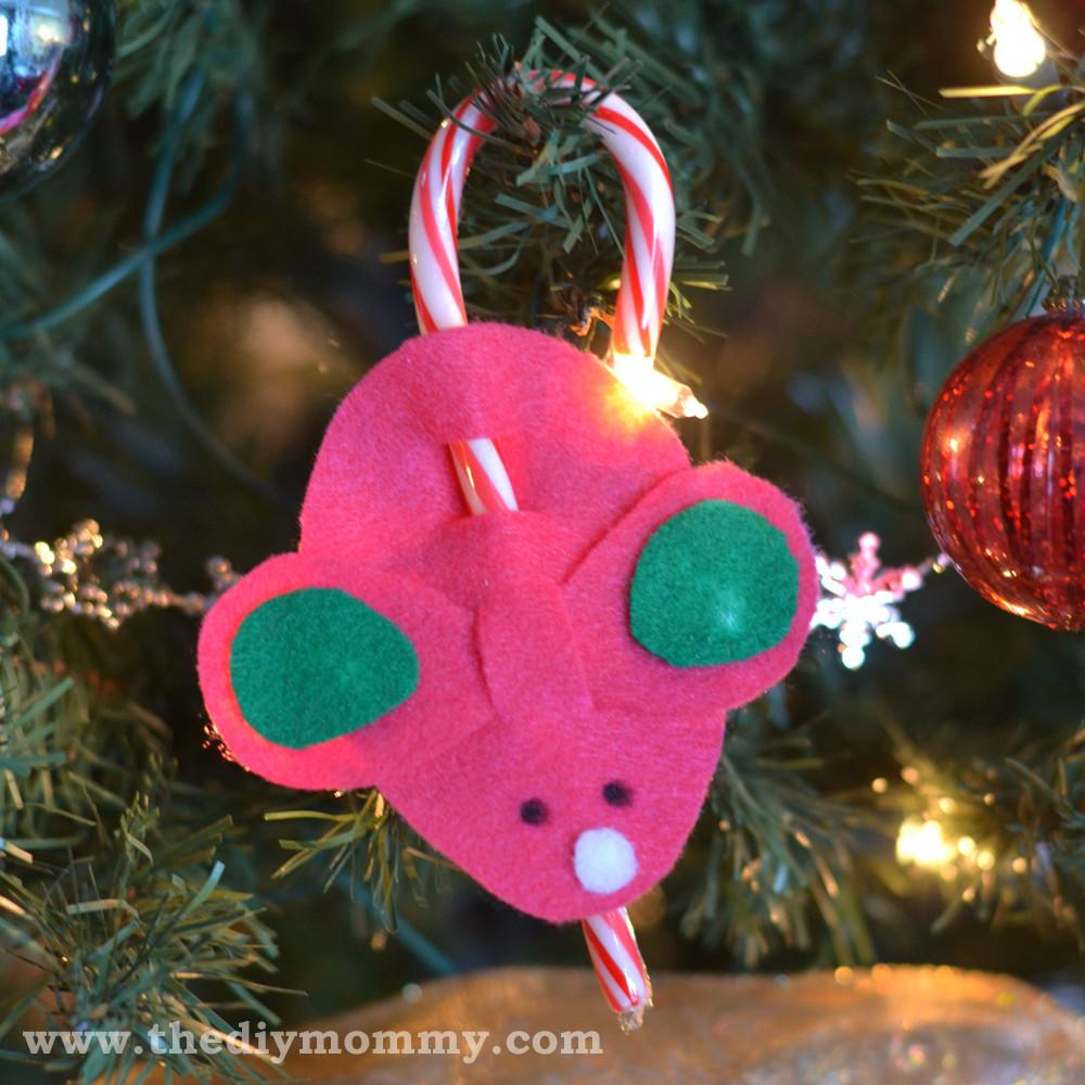 Make Candy Cane Mice Kid Christmas Craft Diy Mommy