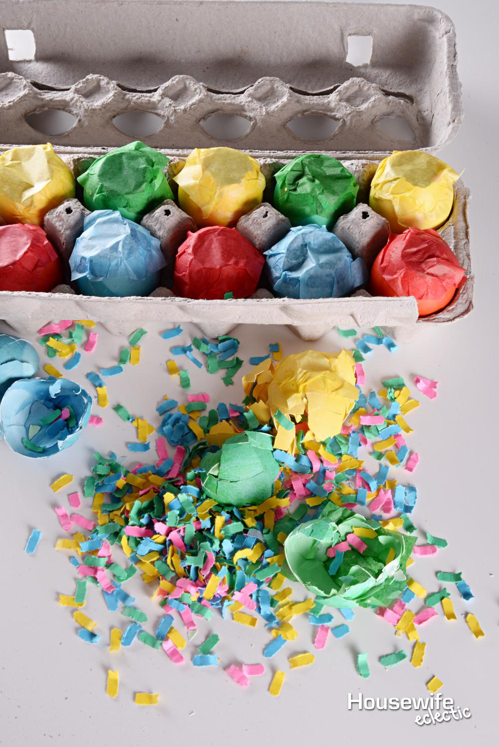 Make Cascarones Confetti Eggs Housewife Eclectic