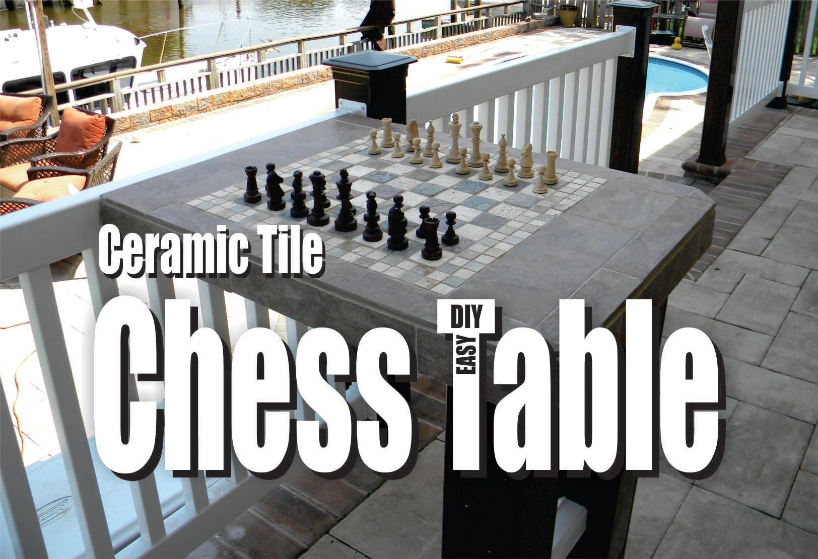 Make Ceramic Tile Chess Table Easy Diy Project