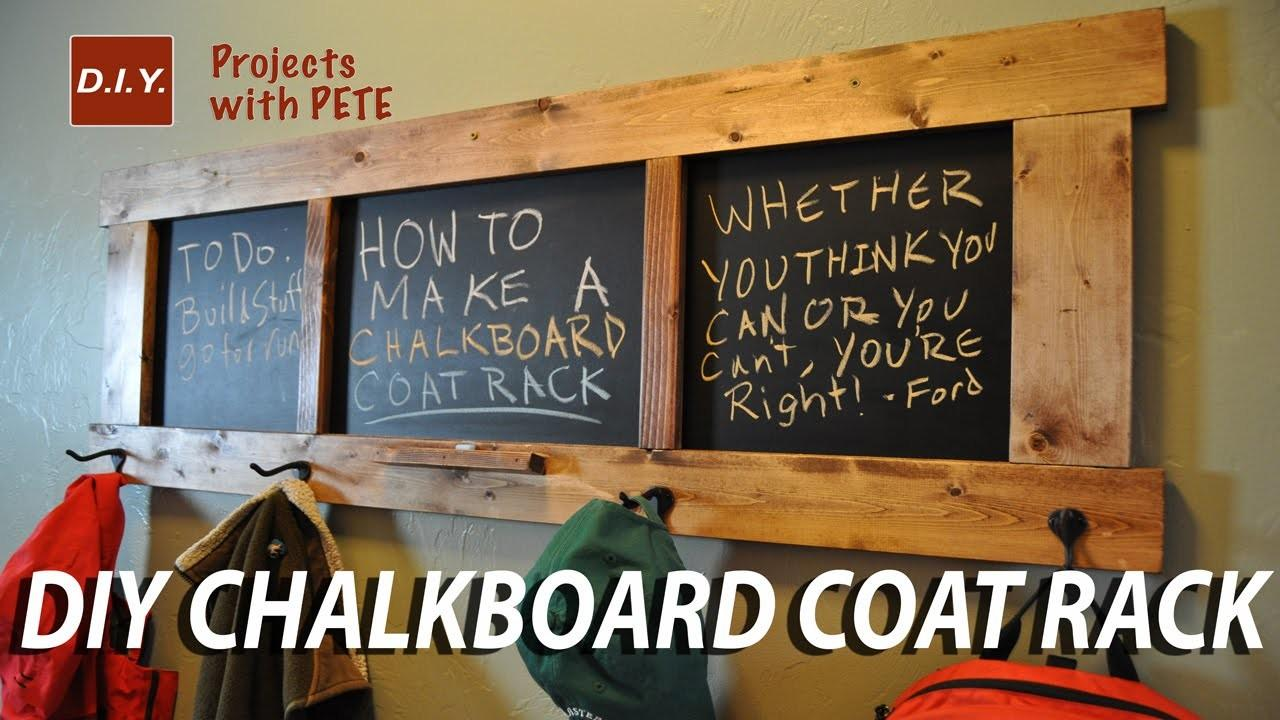 Make Chalkboard Coat Rack
