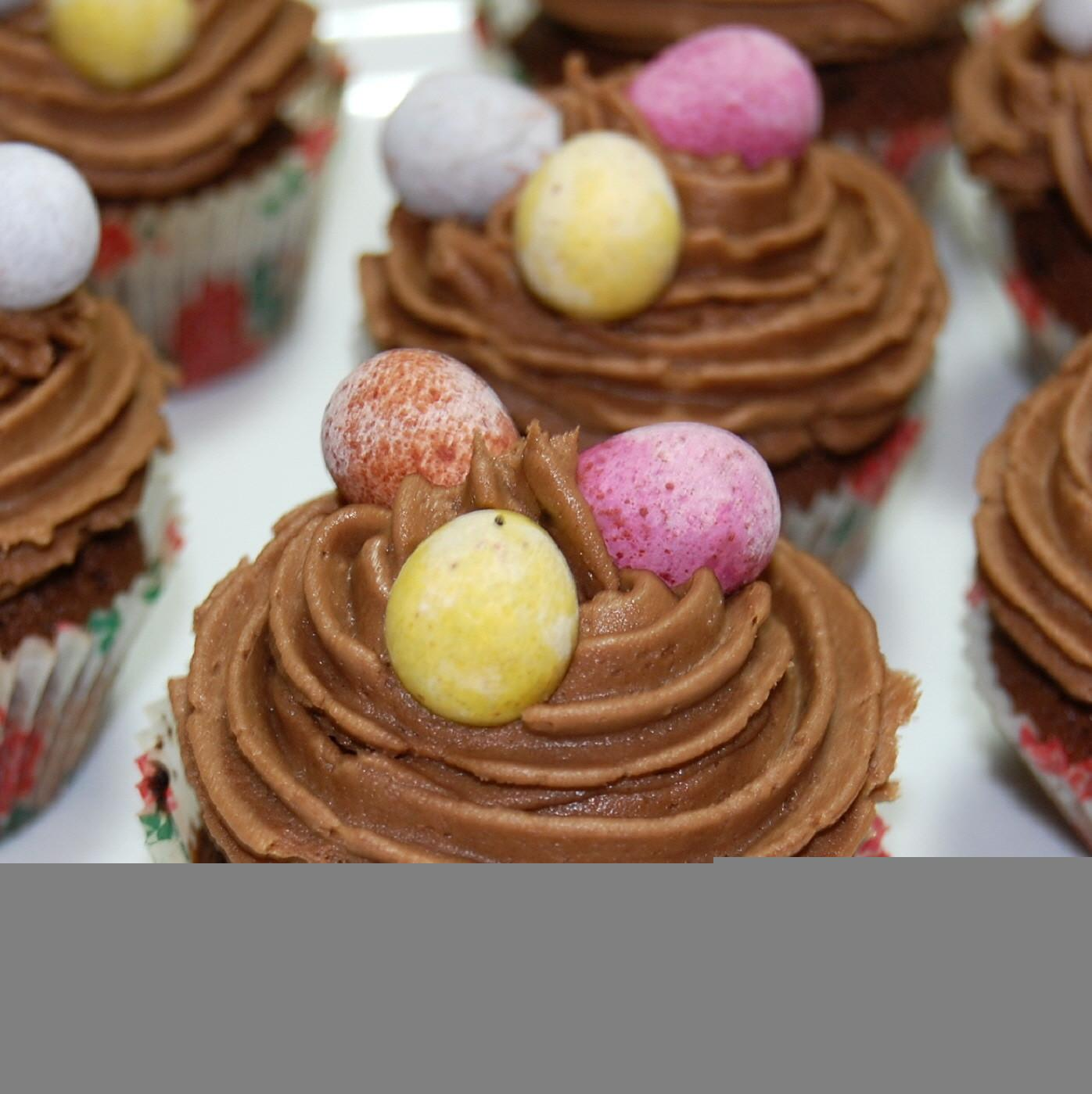Make Chocolate Easter Cupcakes Video
