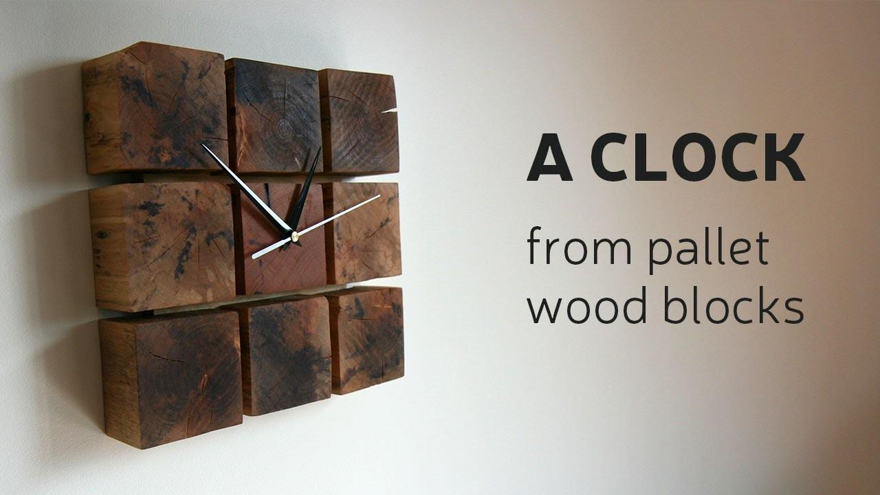 Make Clock Pallet Wood Blocks