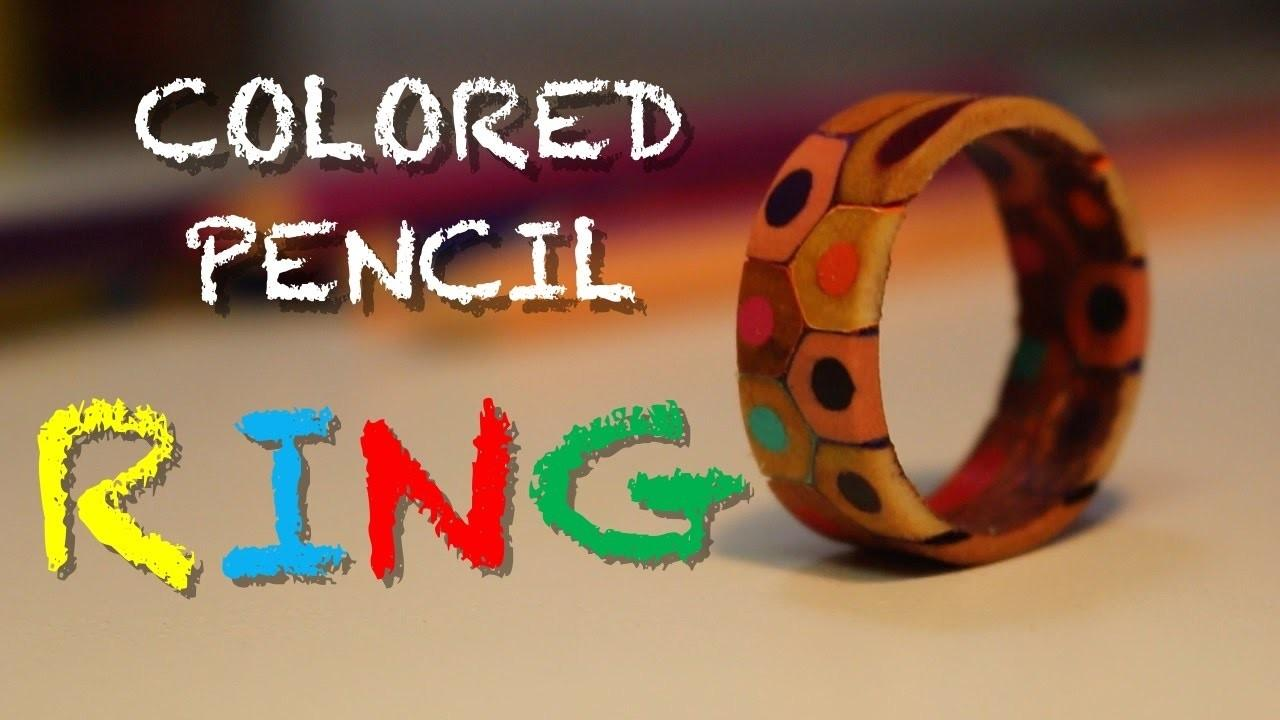 Make Colored Pencil Ring Diy Jewelry