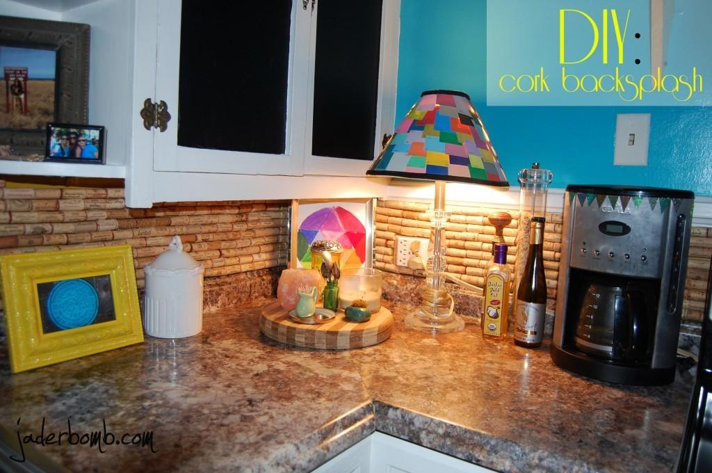 Make Cork Backsplash Your Kitchen Tutorial