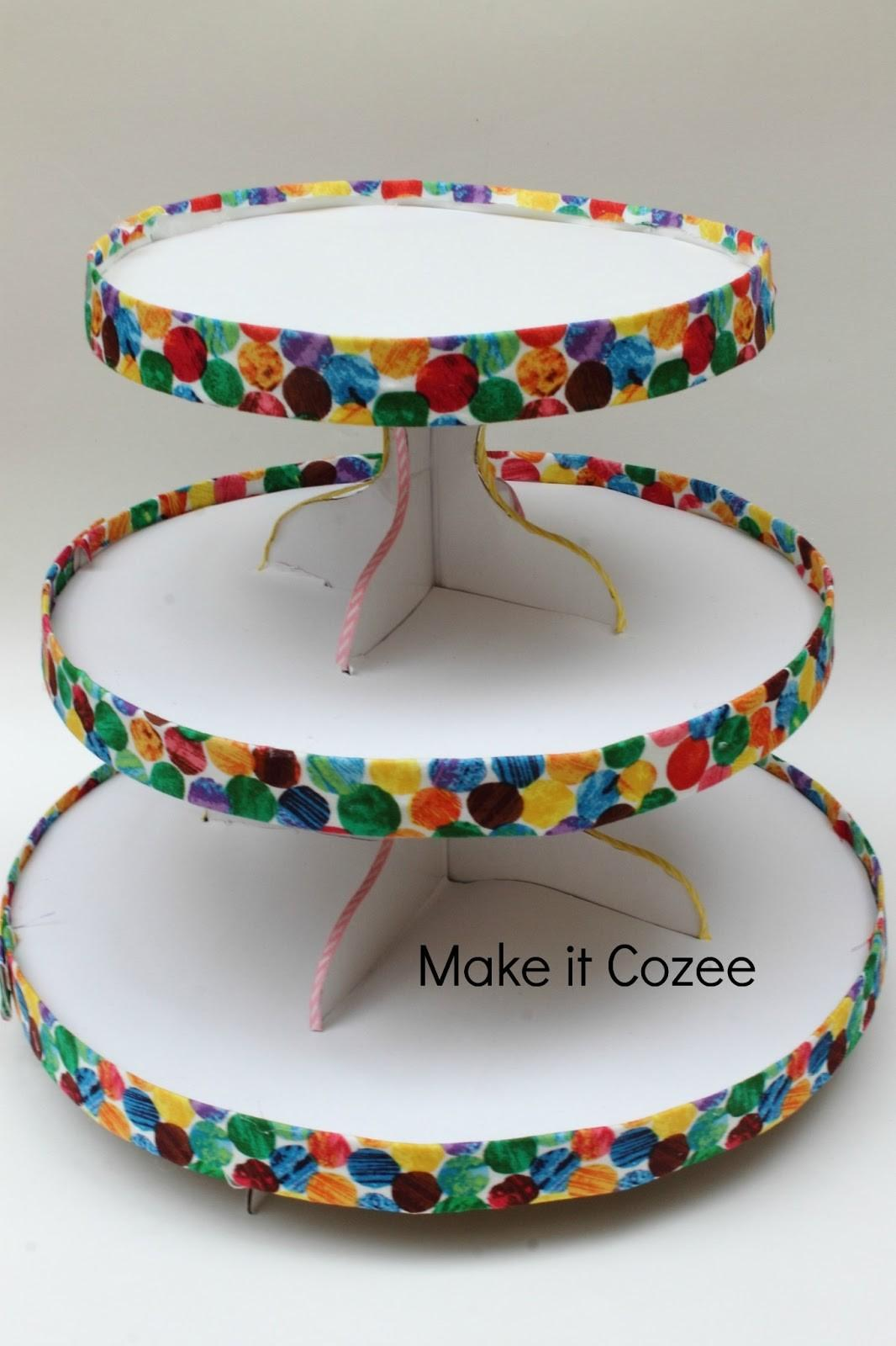 Make Cozee Diy Very Hungry Caterpillar Cupcake Stand