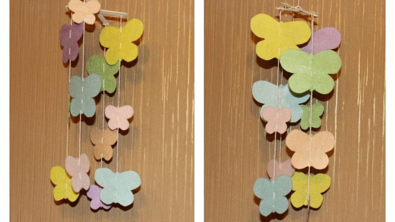 Make Cute Butterfly Baby Mobile Diy Home