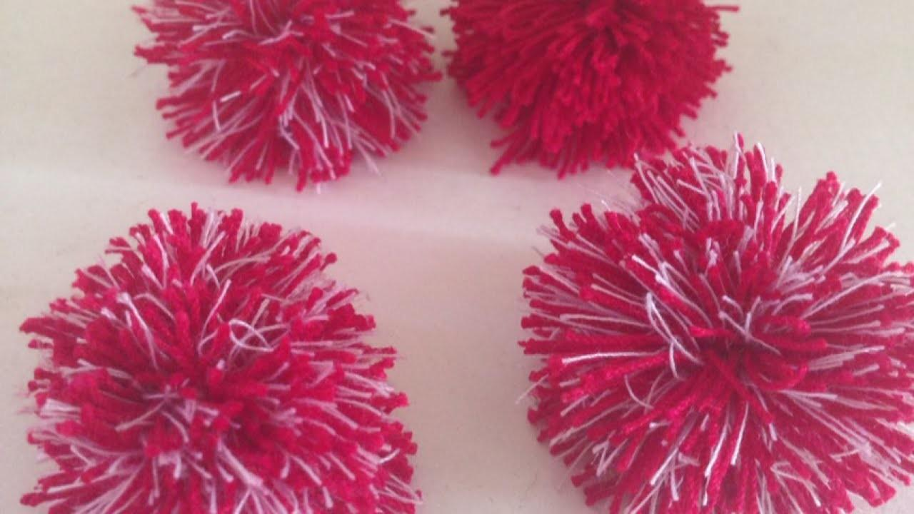 Make Cute Easy Mini Pom Poms Diy Crafts