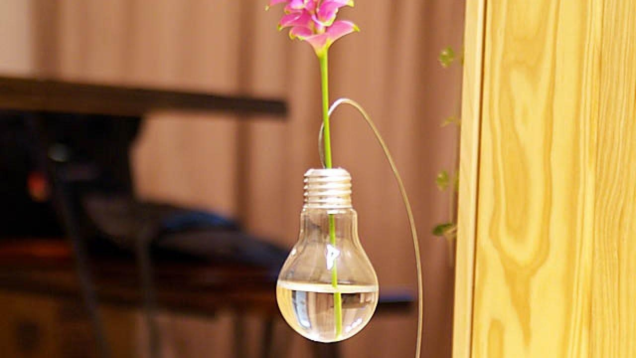 Make Cute Light Bulb Vase Single Flower Diy Home