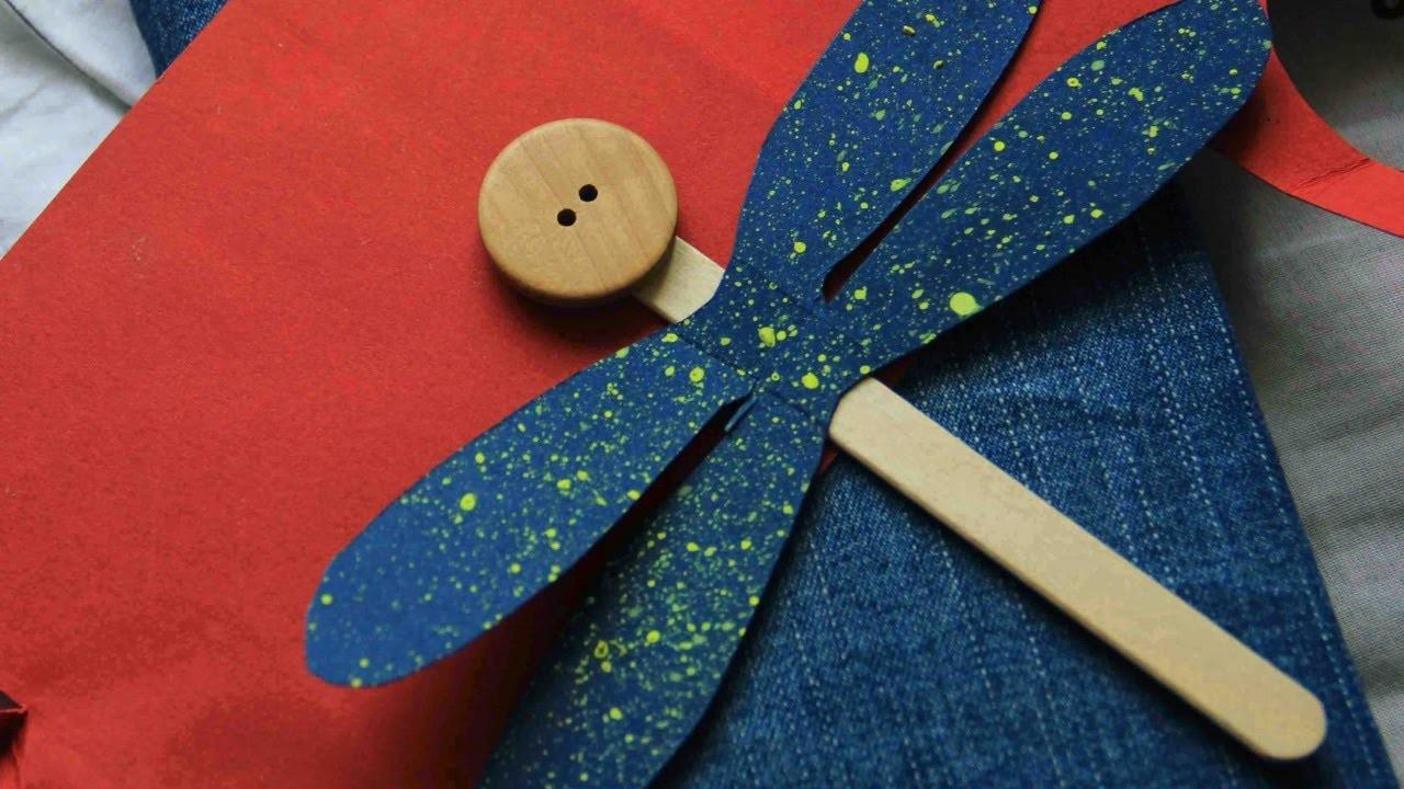 Make Cute Popsicle Stick Dragonfly Diy Crafts