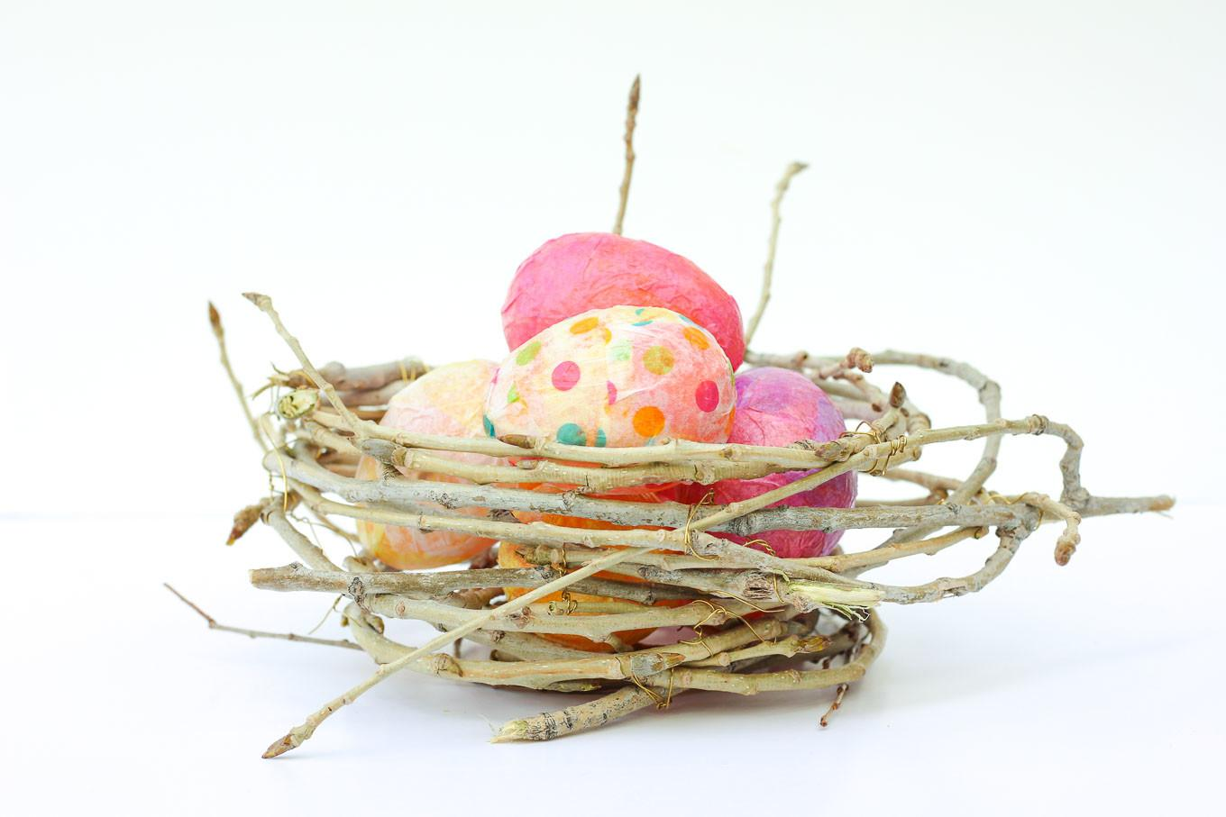 Make Decorative Bird Nest Out Twigs