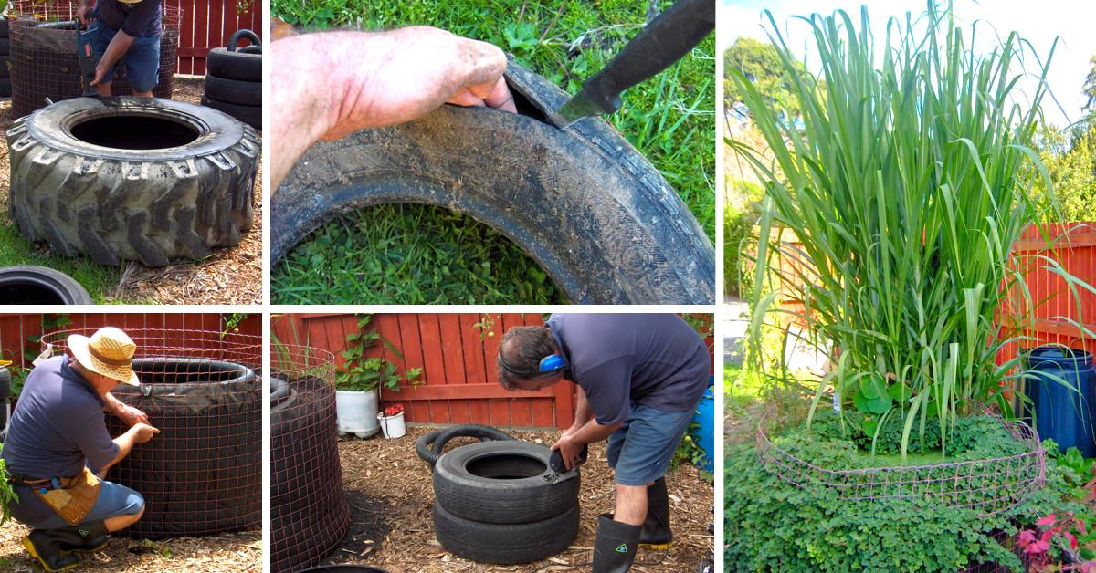Make Decorative Fish Pond Old Tires Cute