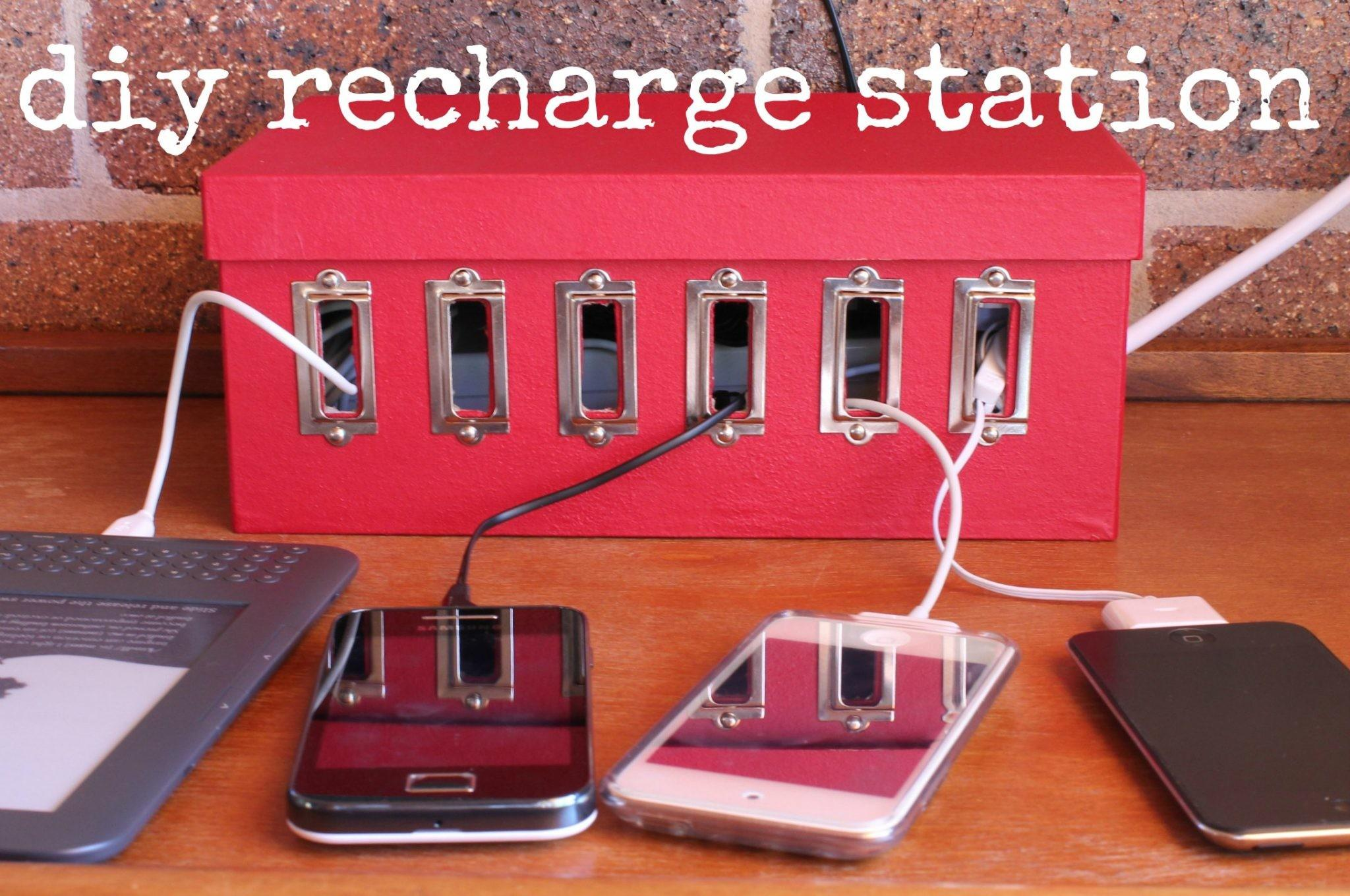 Make Device Charging Station Dollar Store Crafts